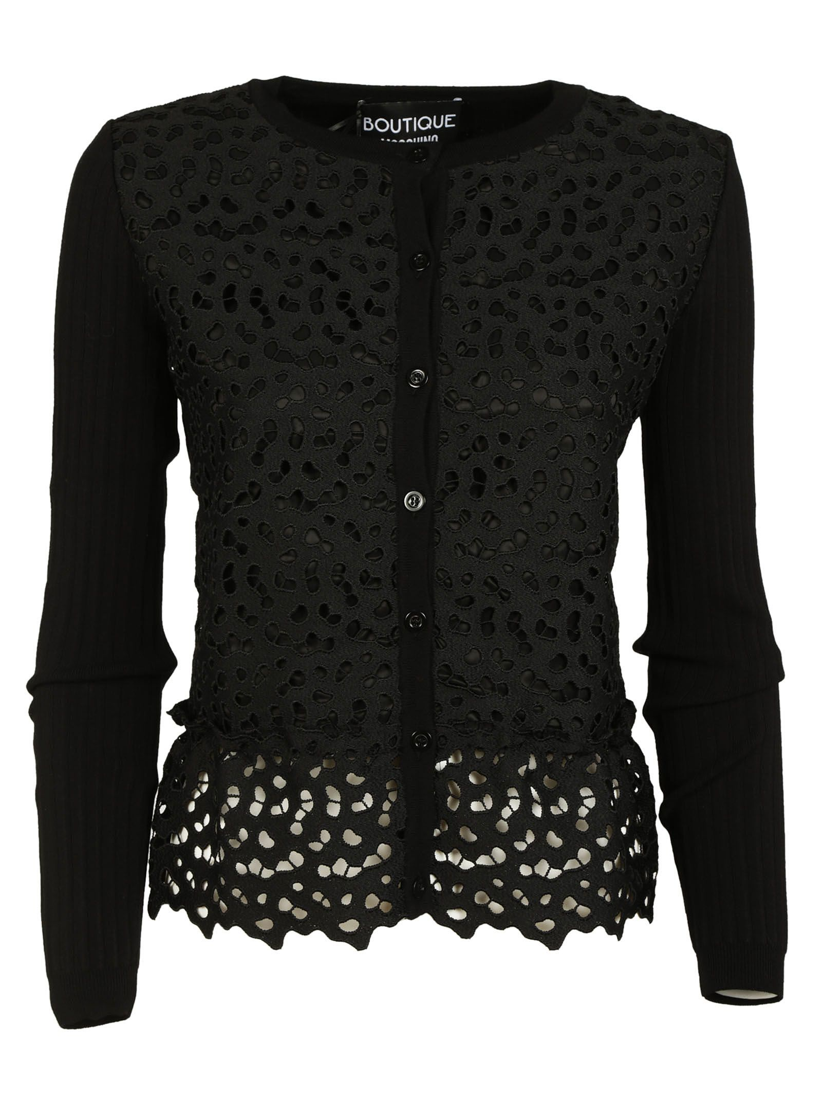 Boutique Moschino Lace Detail Cardigan