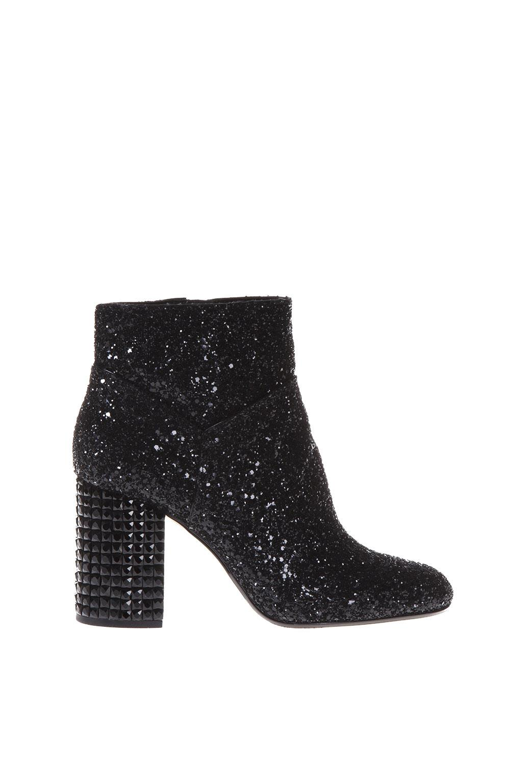 MICHAEL Michael Kors Arabella Embellished Glittered Leather Ankle Boots