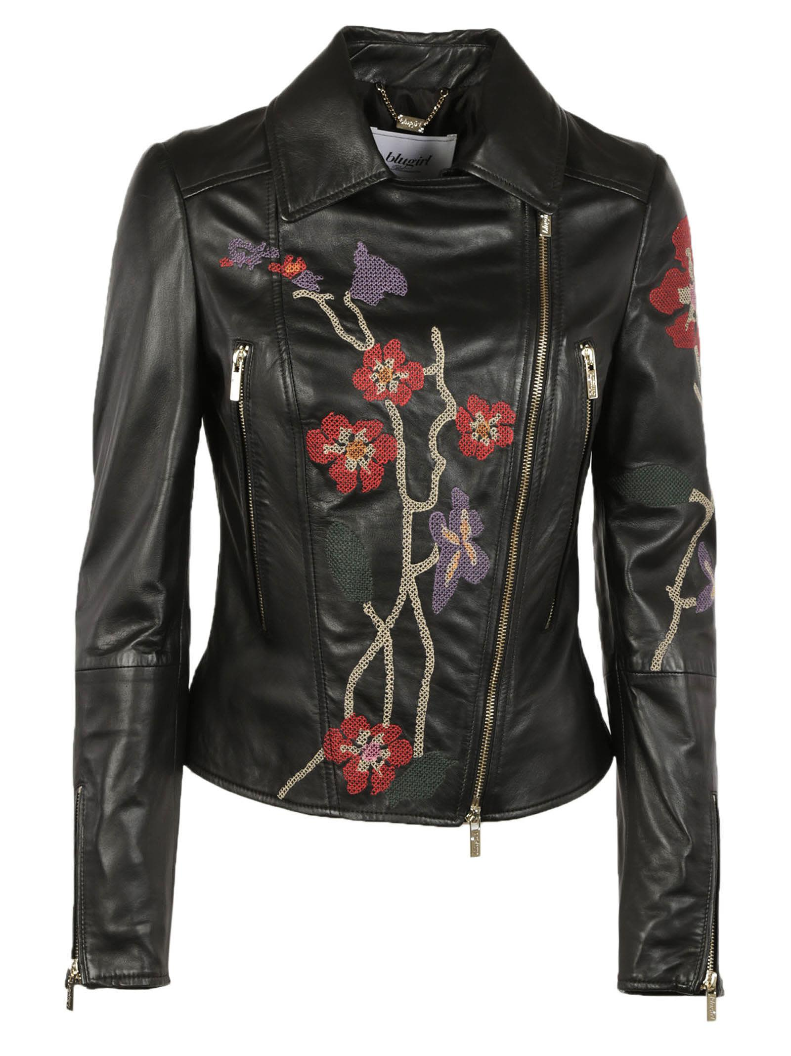 Blugirl Embroidered Biker Jacket