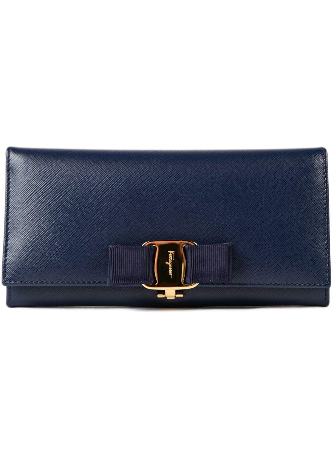 Salvatore Ferragamo Miss Vara Bow Clip Wallet