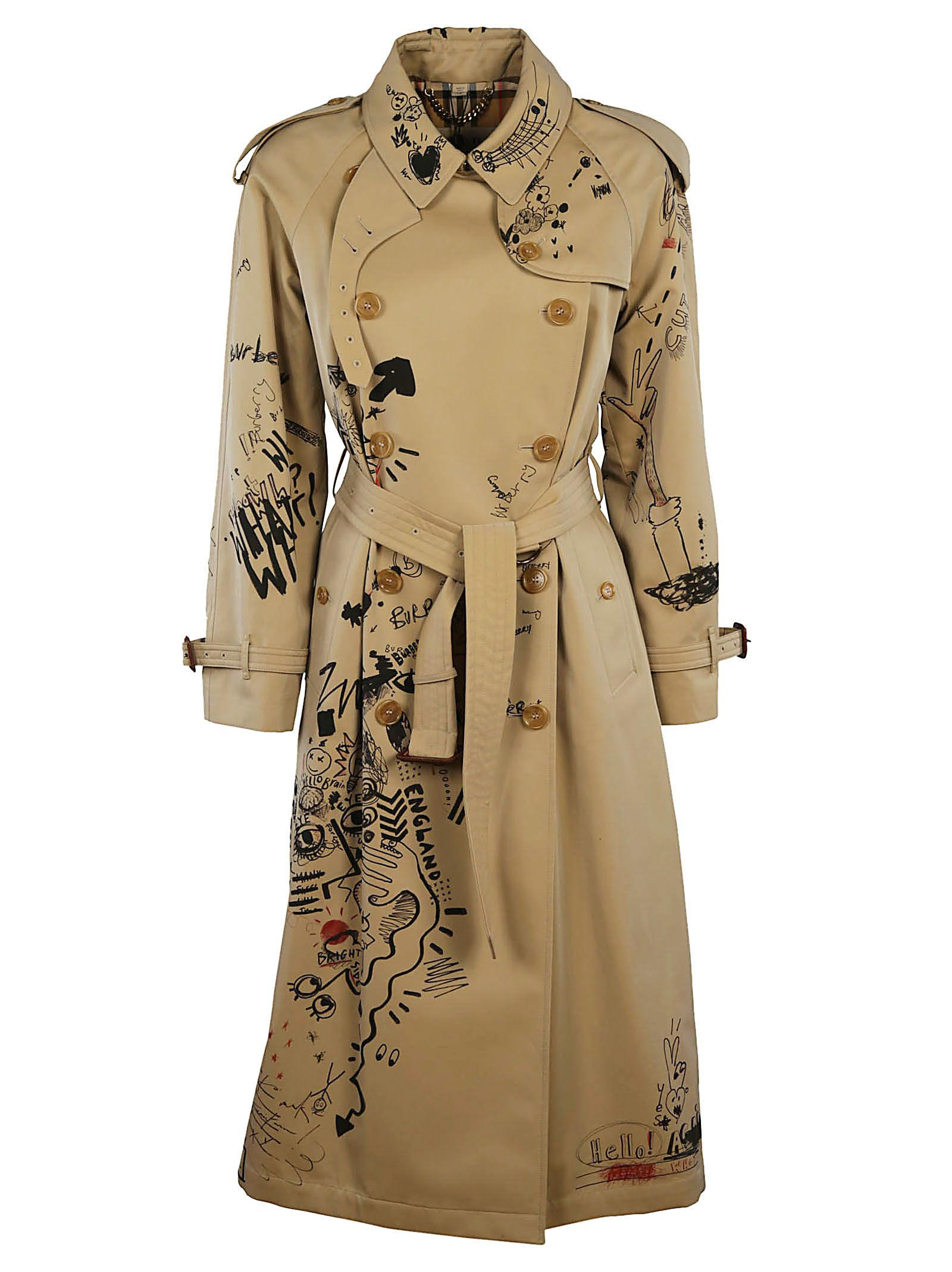 Burberry Sketch Print Trench