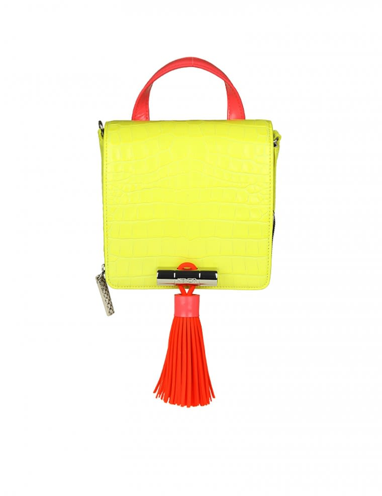 Kenzo Borsa A Mano small Top Handle In Yellow Leather
