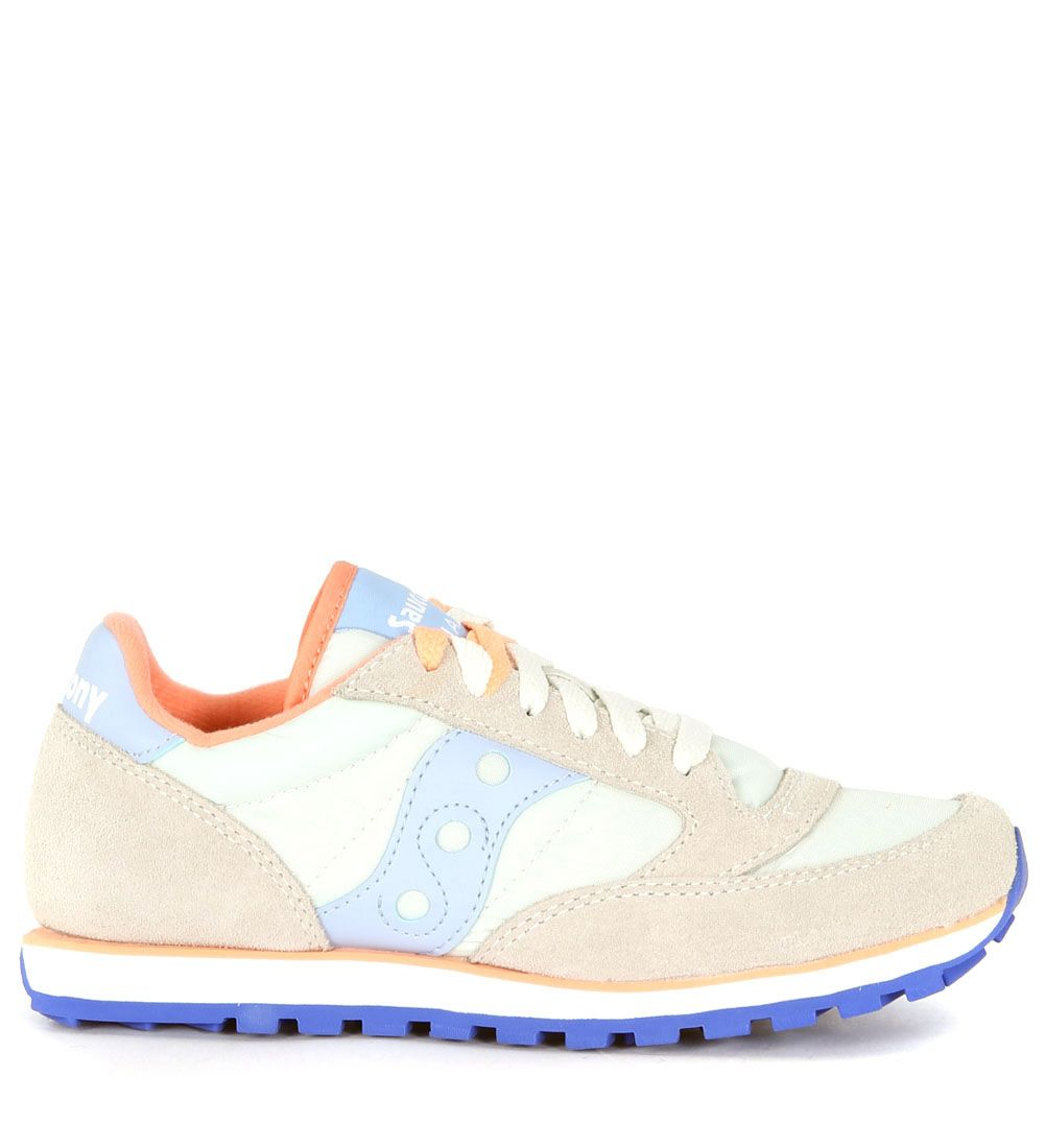 Sneaker Saucony Low Pro In Grey And Indigo Suede And Fabric