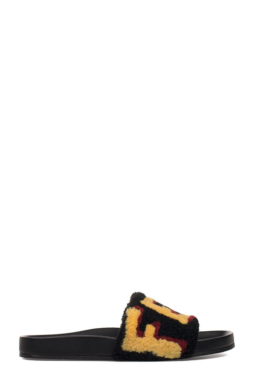 Black Logo Sandal