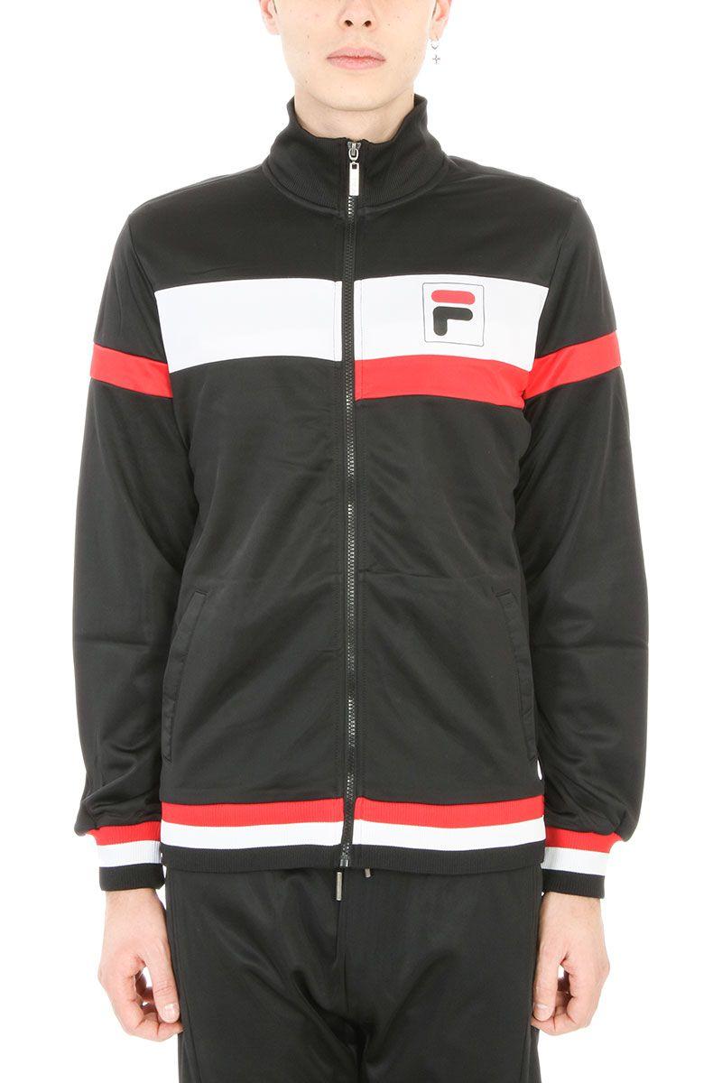 Fila Black Cotton Logo Sweatshirt