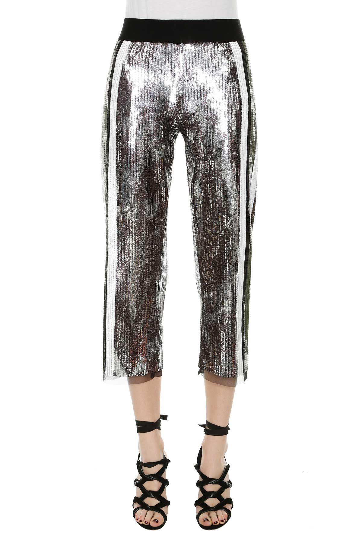 Aviu Paillettes Cropped Pants