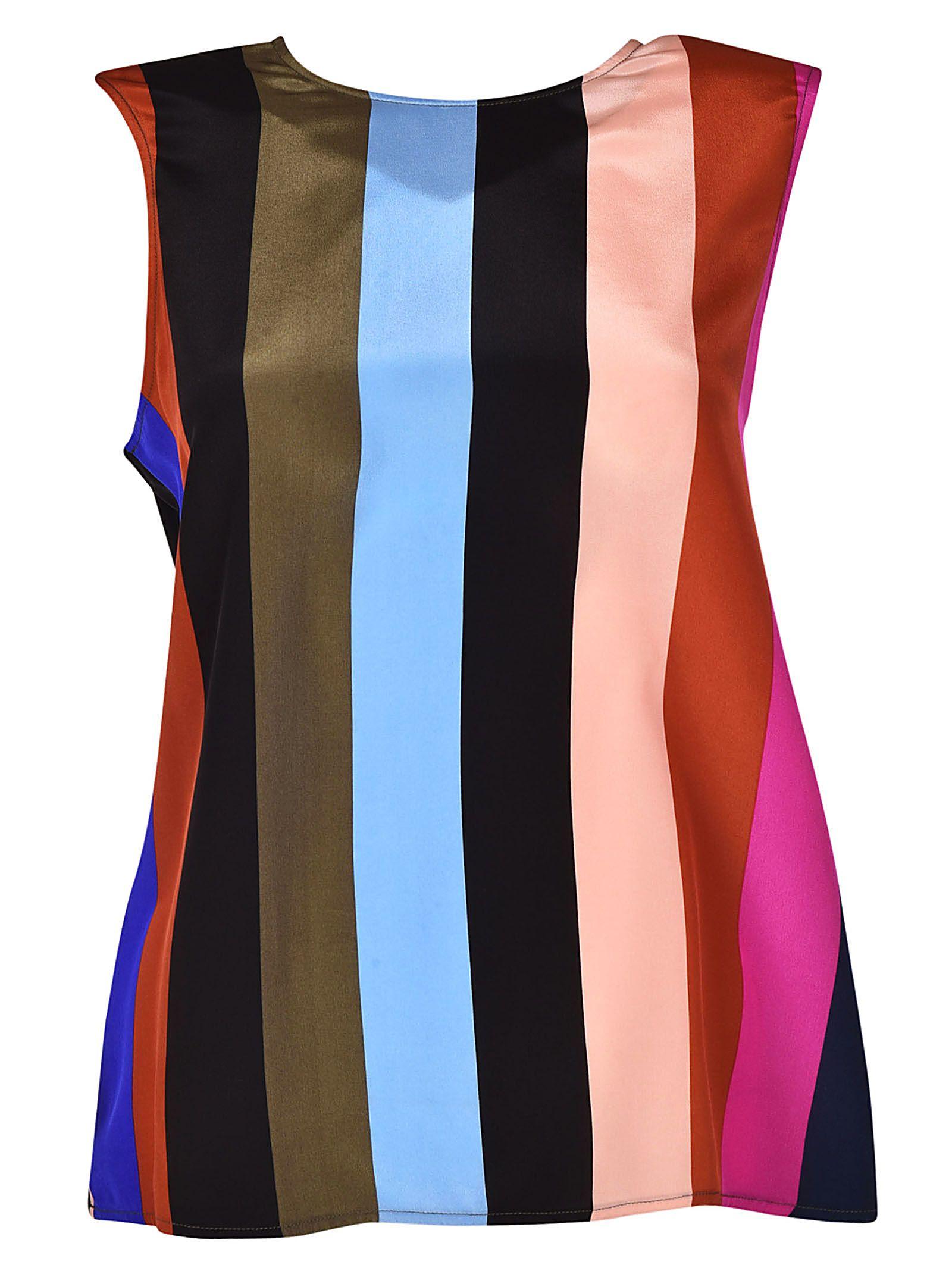 Diane Von Furstenberg Graphic Stripe Print Tank Top