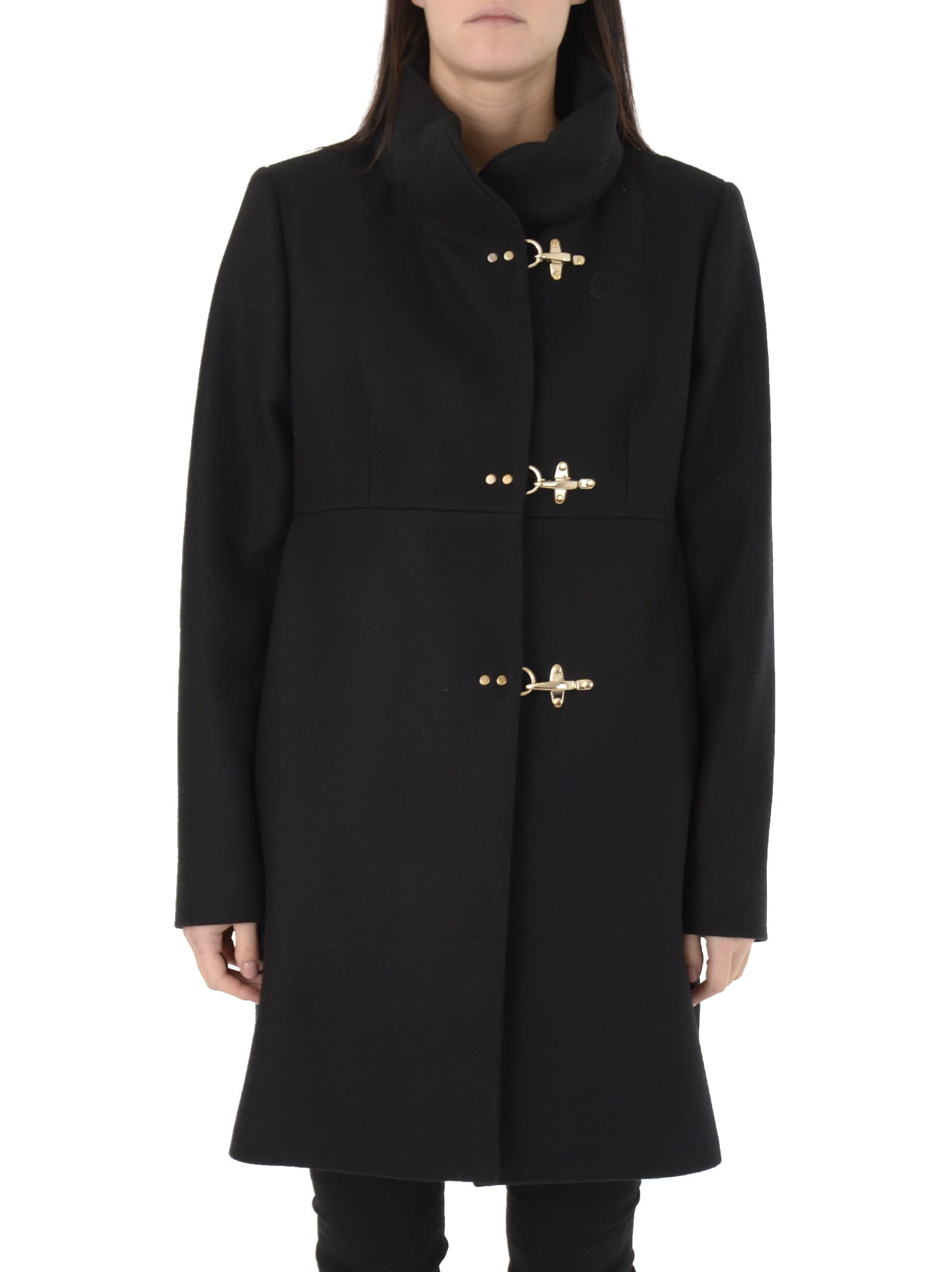 Fay Black Romantic Coat