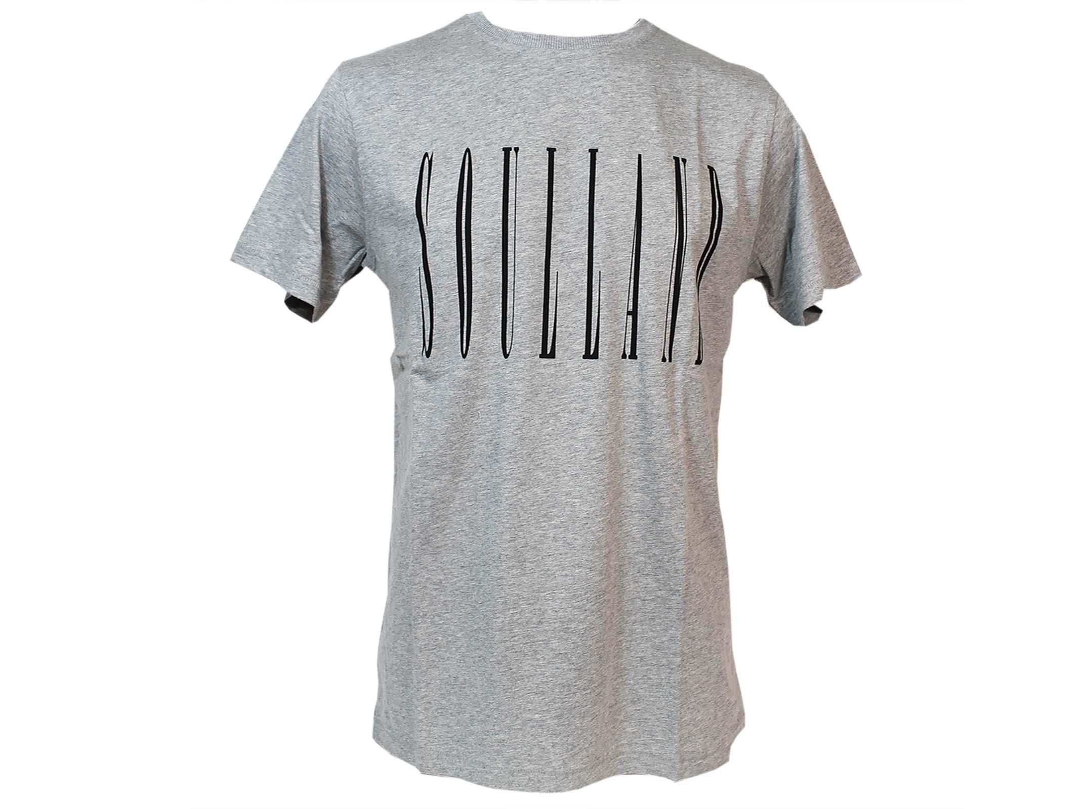 Soulland Grey Barker Logo T-shirt