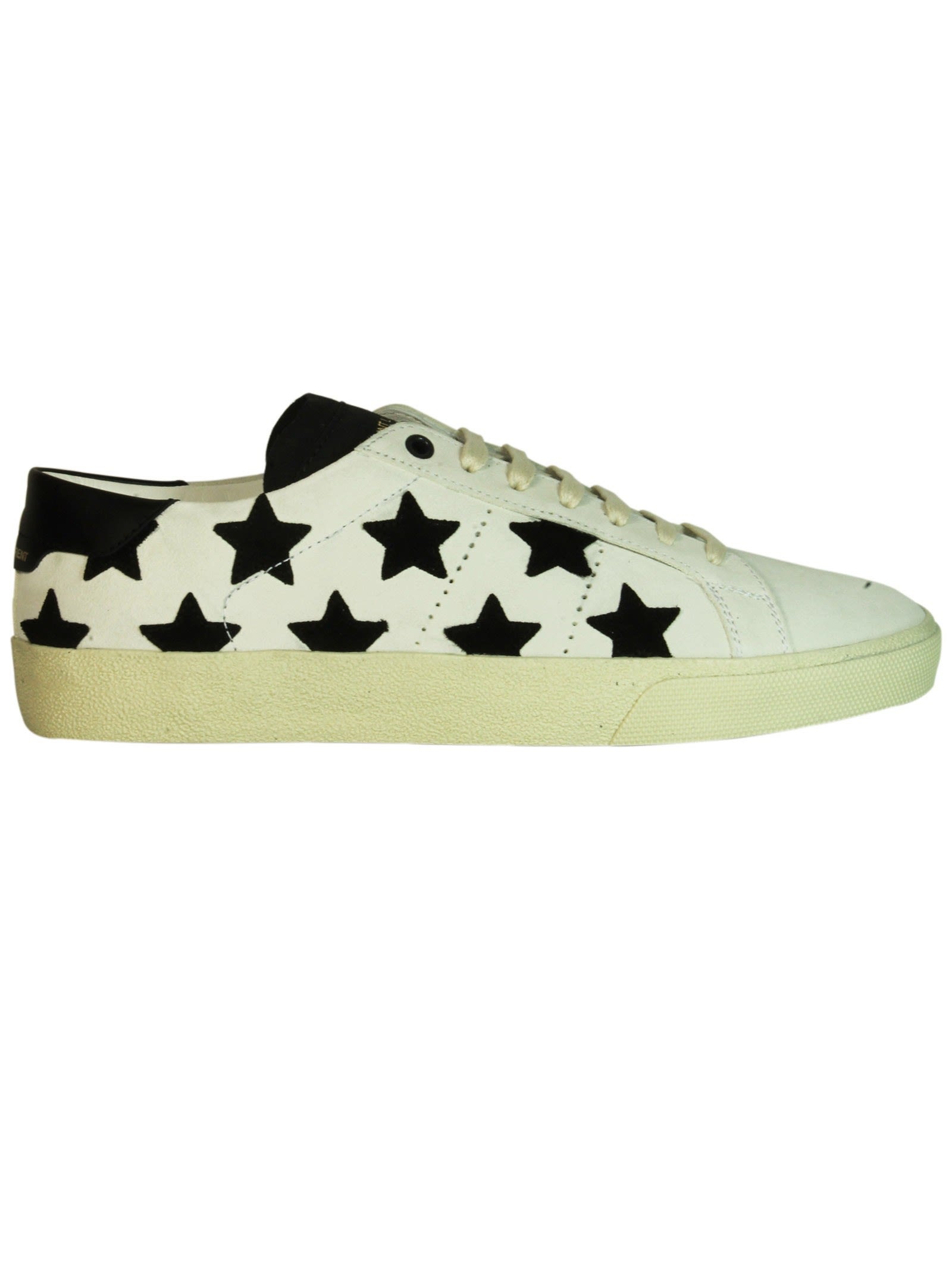 Saint Laurent Milk Stars Court Classic Sneakers