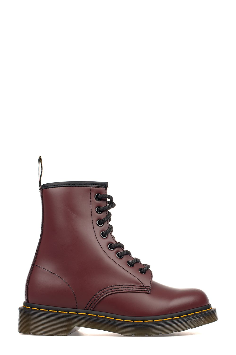 dr martens bordeaux brushed leather low boot red women 39 s boots italist. Black Bedroom Furniture Sets. Home Design Ideas