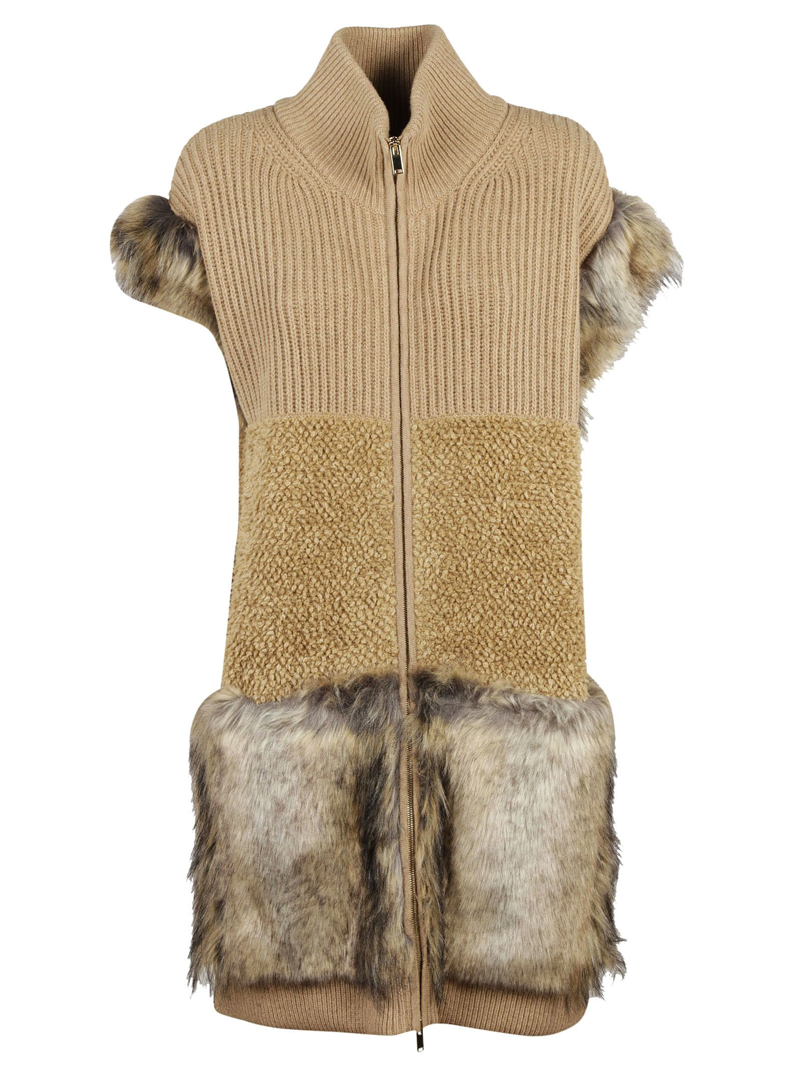 Stella McCartney Fur Knit Vest