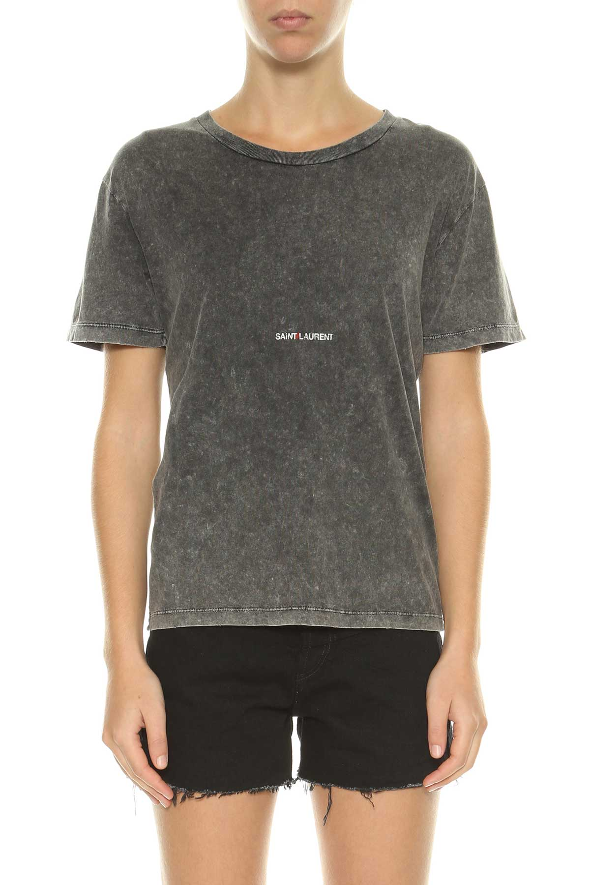 Saint Laurent Saint Laurent Logo Printed T-shirt