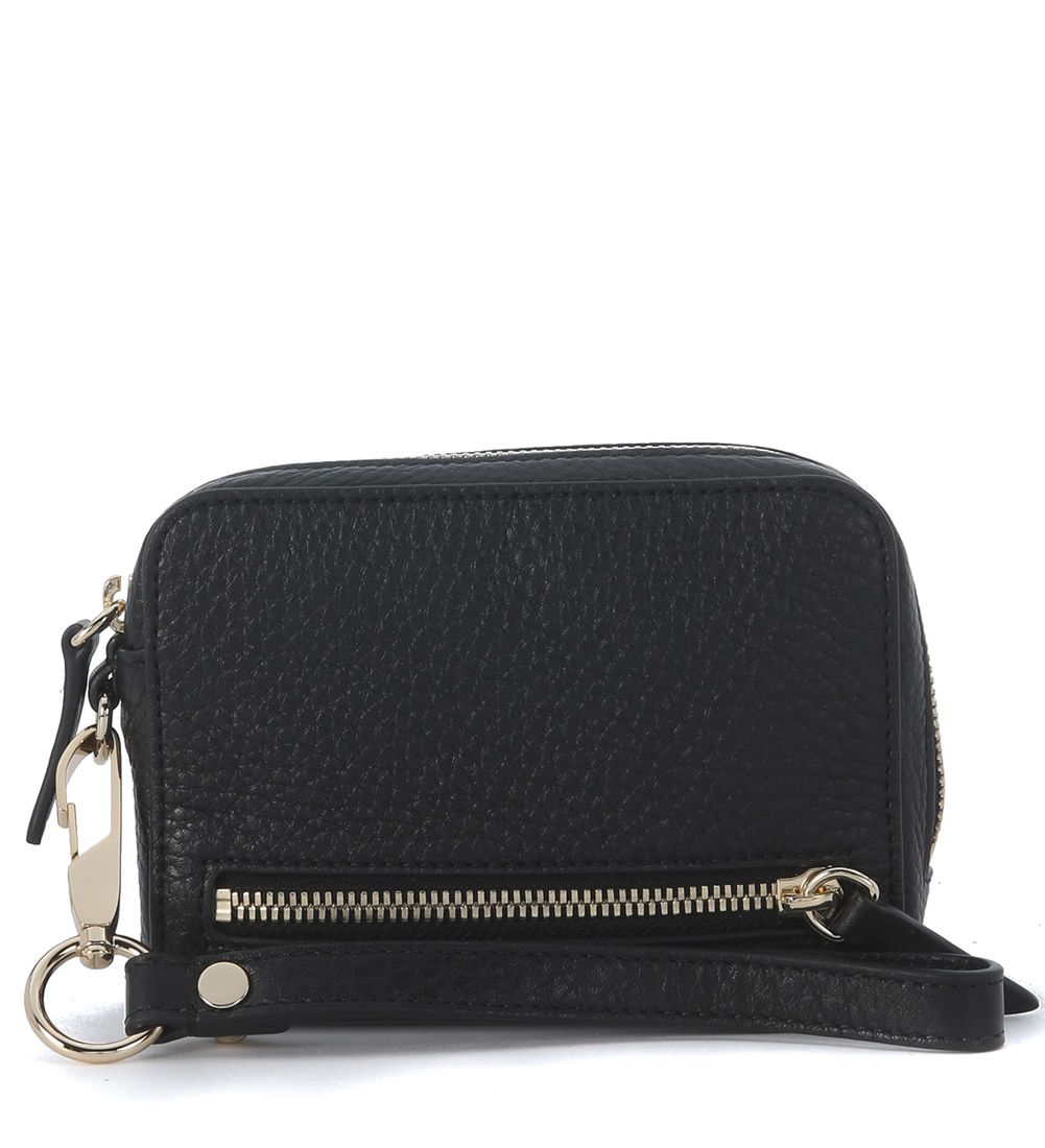 Alexander Wang Fumo Large Black Tumbled Leather Pochette