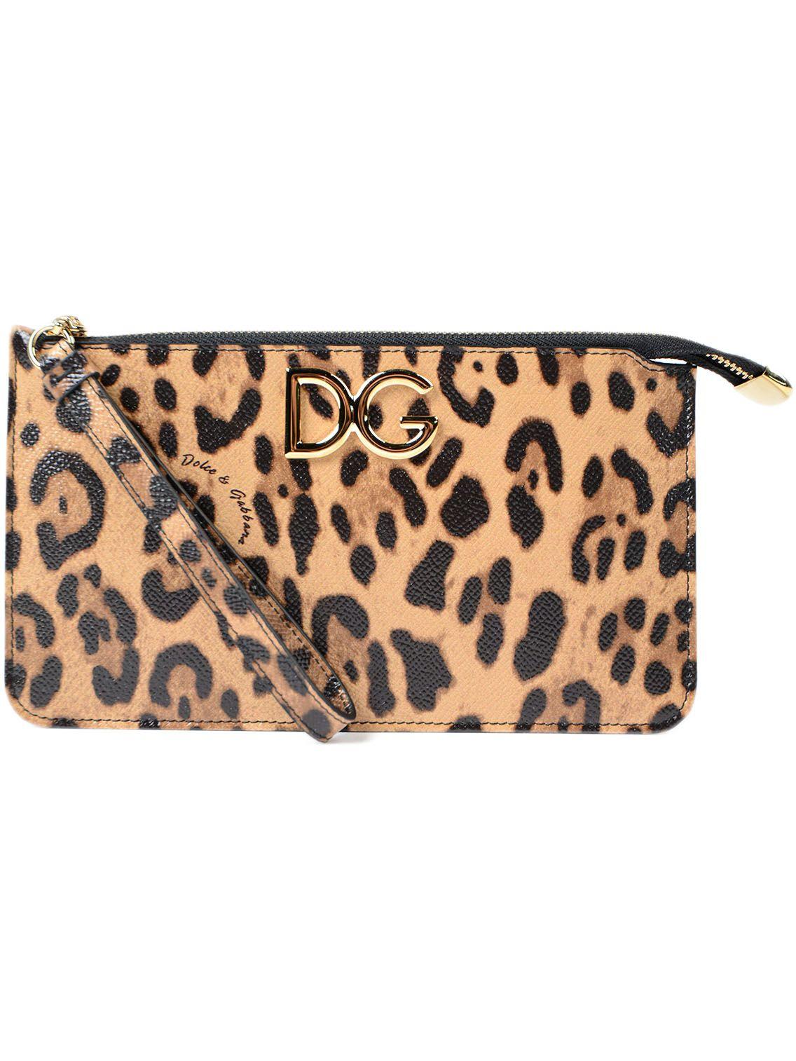 Dolce & Gabbana Dolce & Gabbana Leopard Print Clutch
