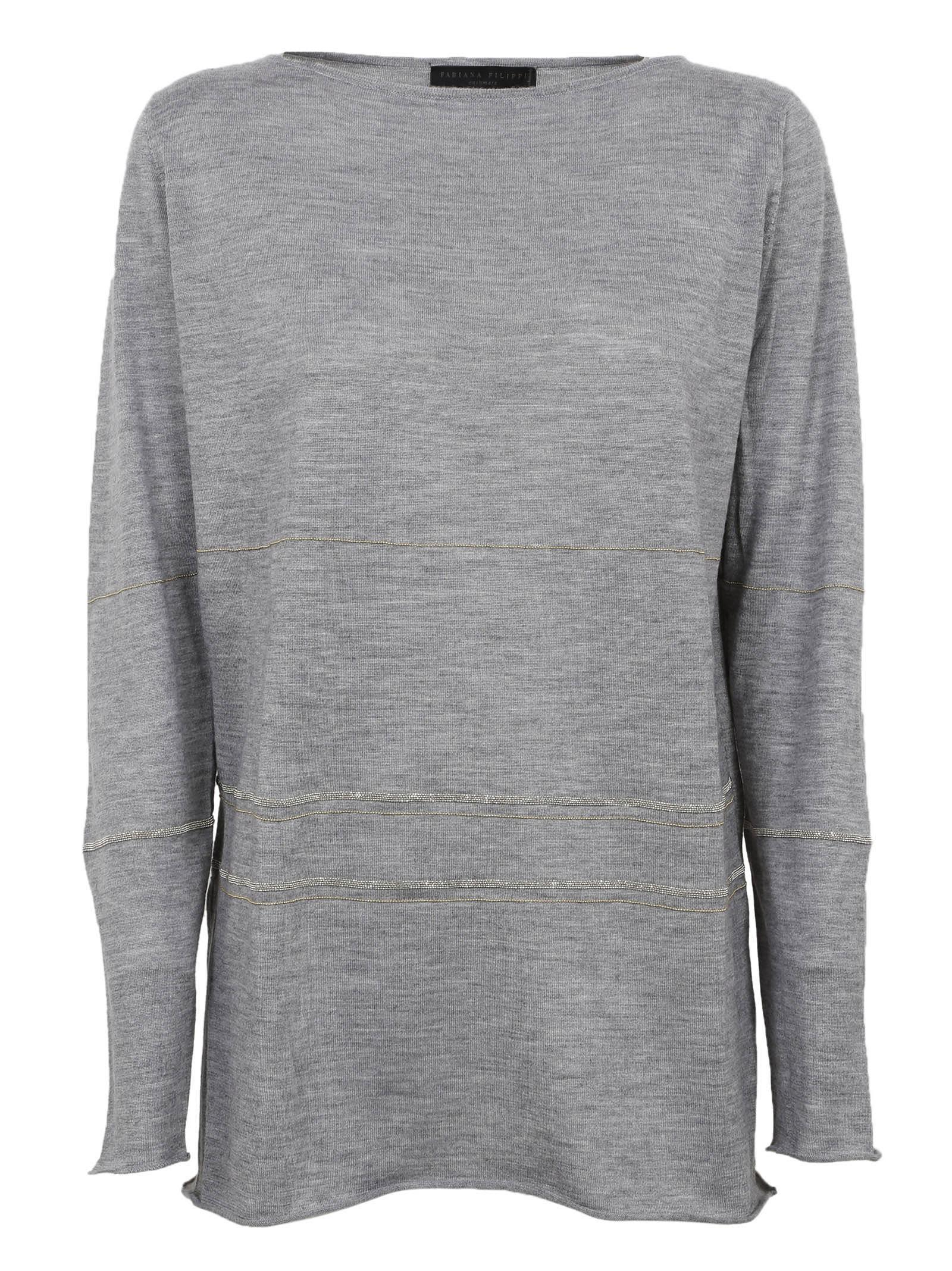 Fabiana Filippi Metallic Stiped Sweater
