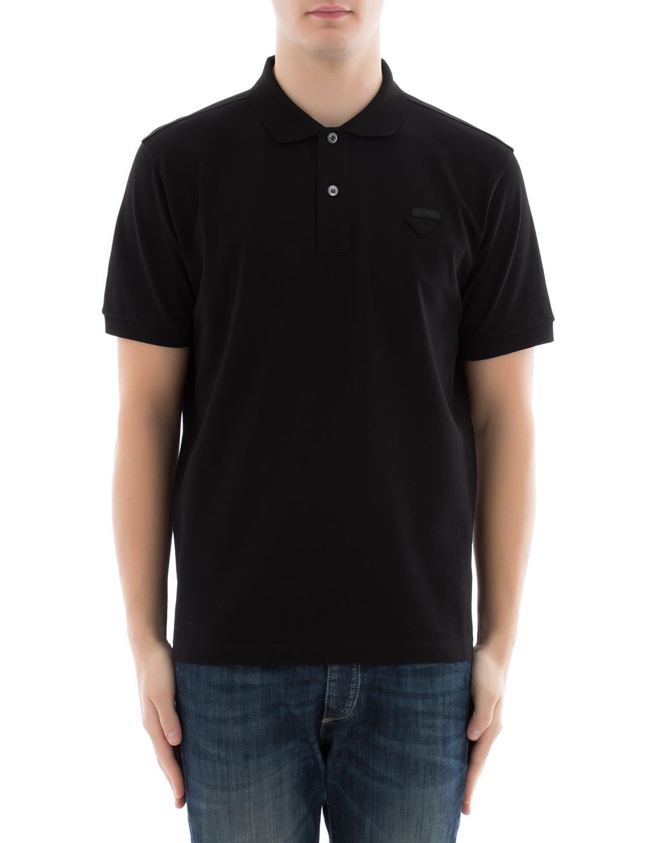 Black Cotton Polo