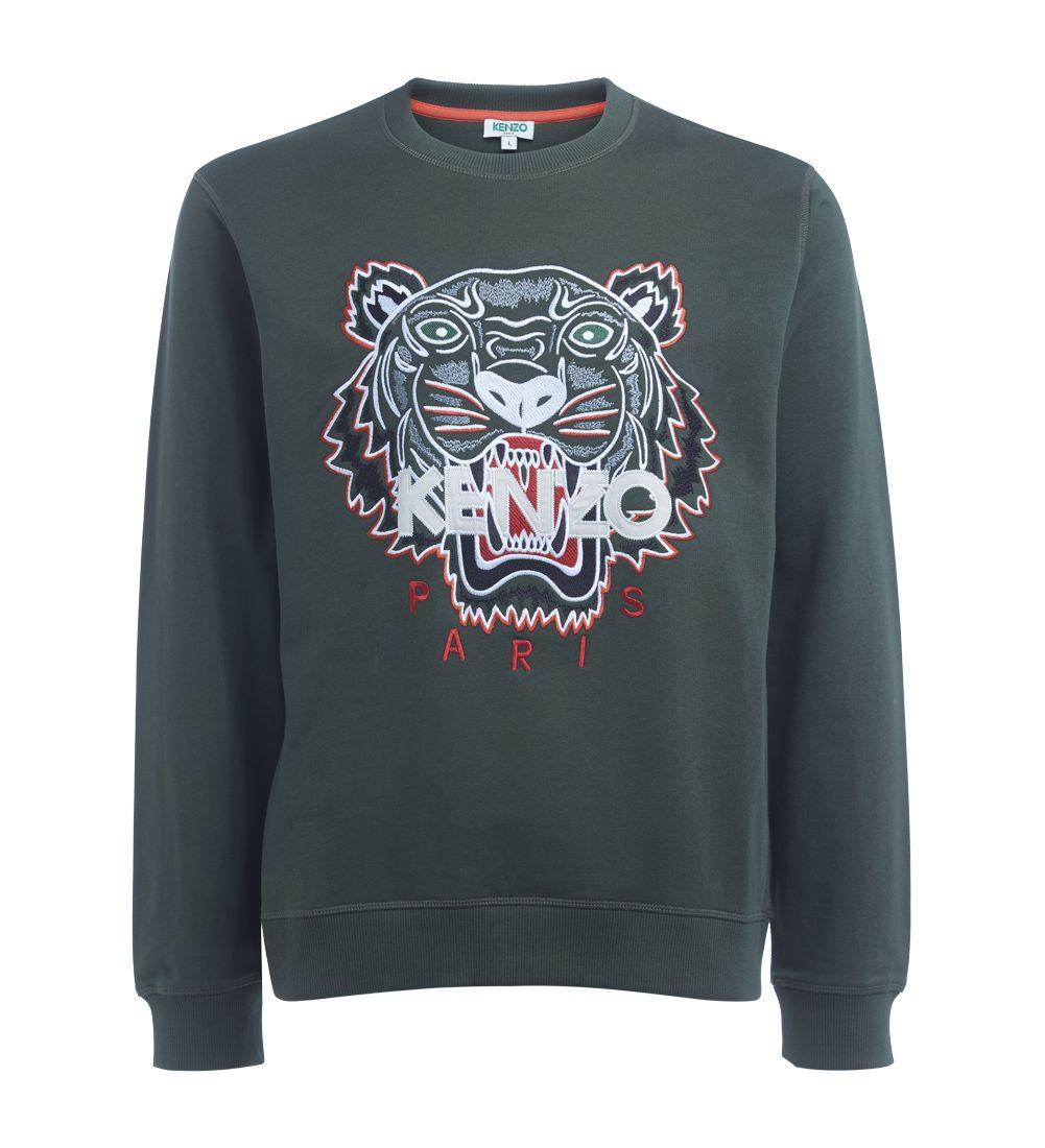 Kenzo Tiger Green Sweater
