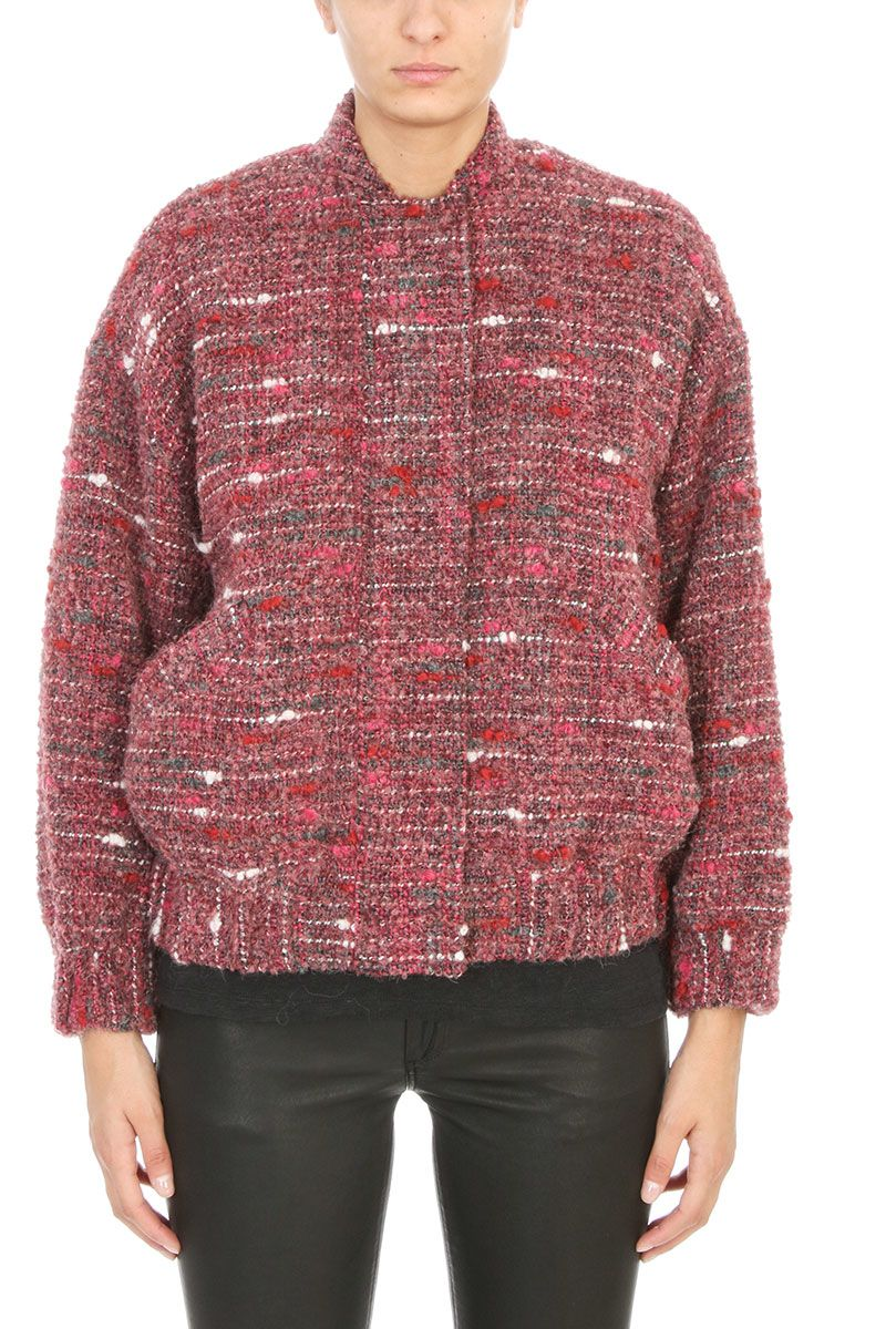 IRO Eddy Teddy Tweed Bomber Jacket