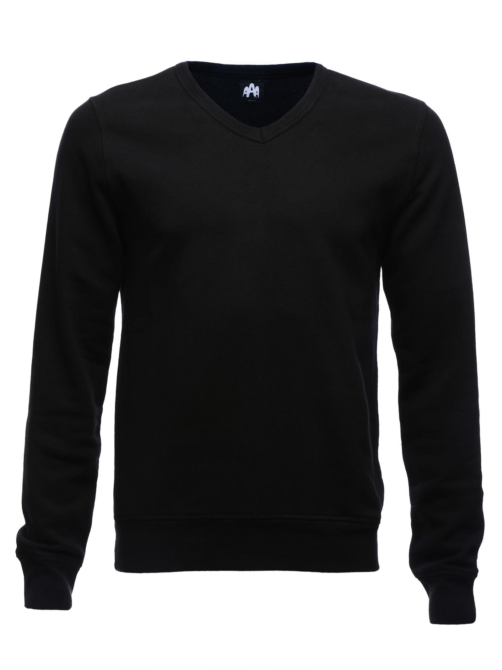 100% Cotton V-Neck Long Sleeve Sweatshirt