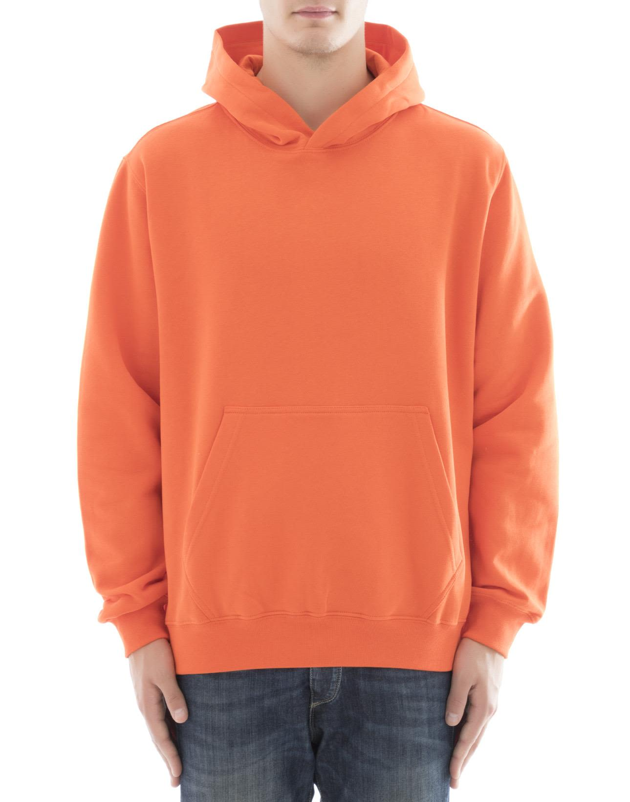 MSGM - Orange Cotton Sweater - Orange, Men's Sweaters | Italist