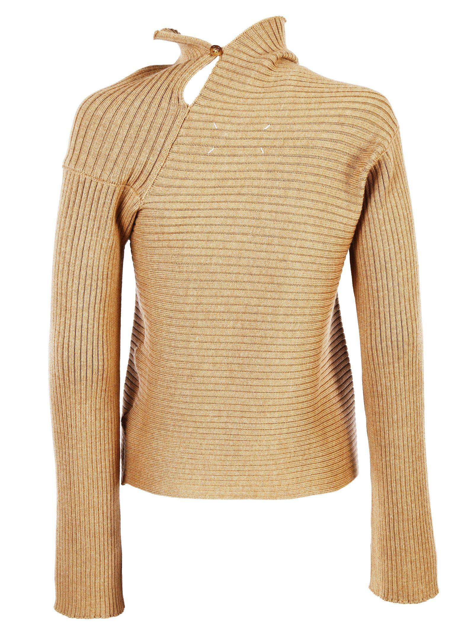 Maison Margiela - Maison Margiela Wool Ribbed Knit Asymmetric ...