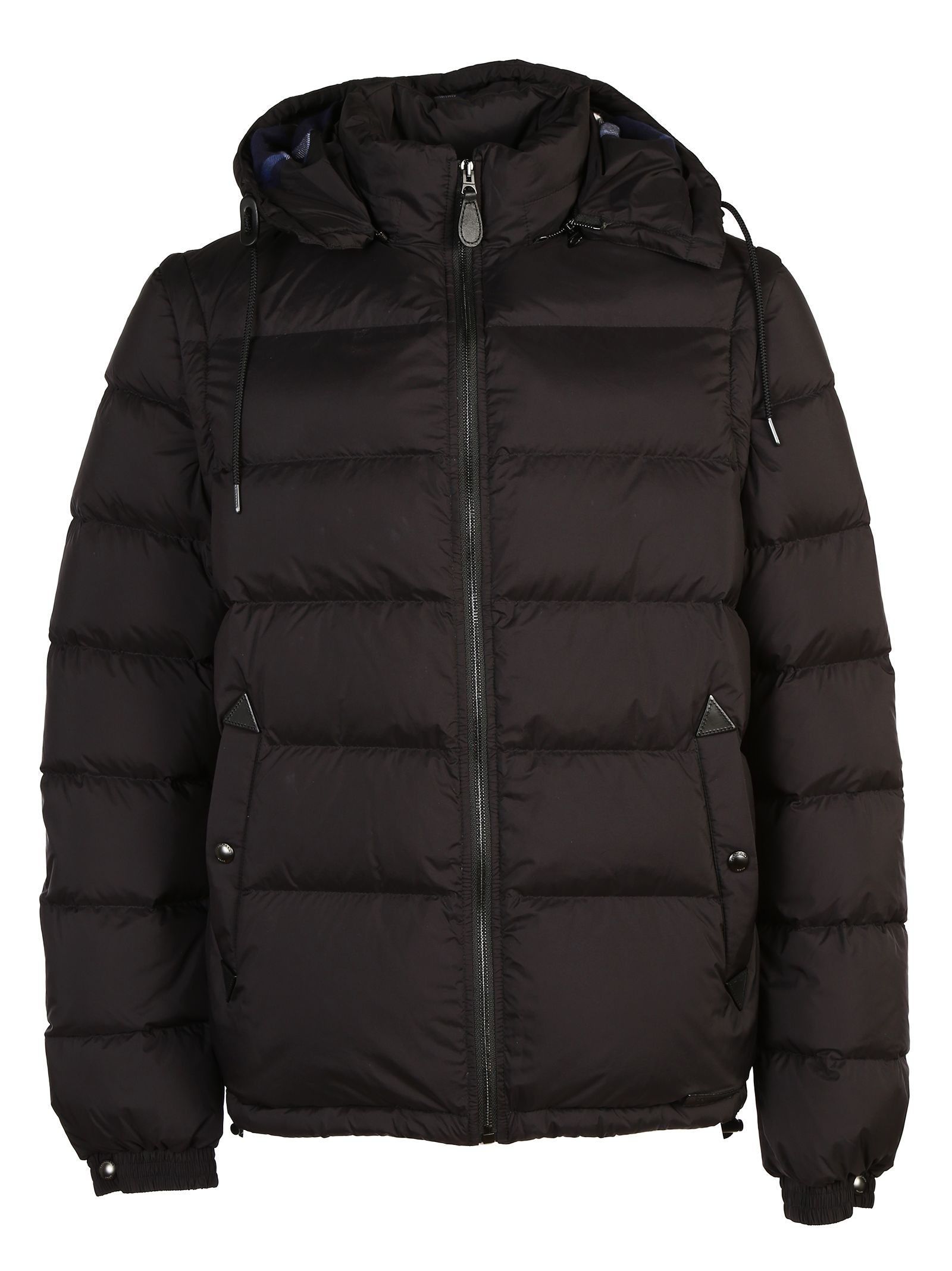 burberry brit burberry brit hooded down jacket with detachable sleeves black men 39 s down. Black Bedroom Furniture Sets. Home Design Ideas