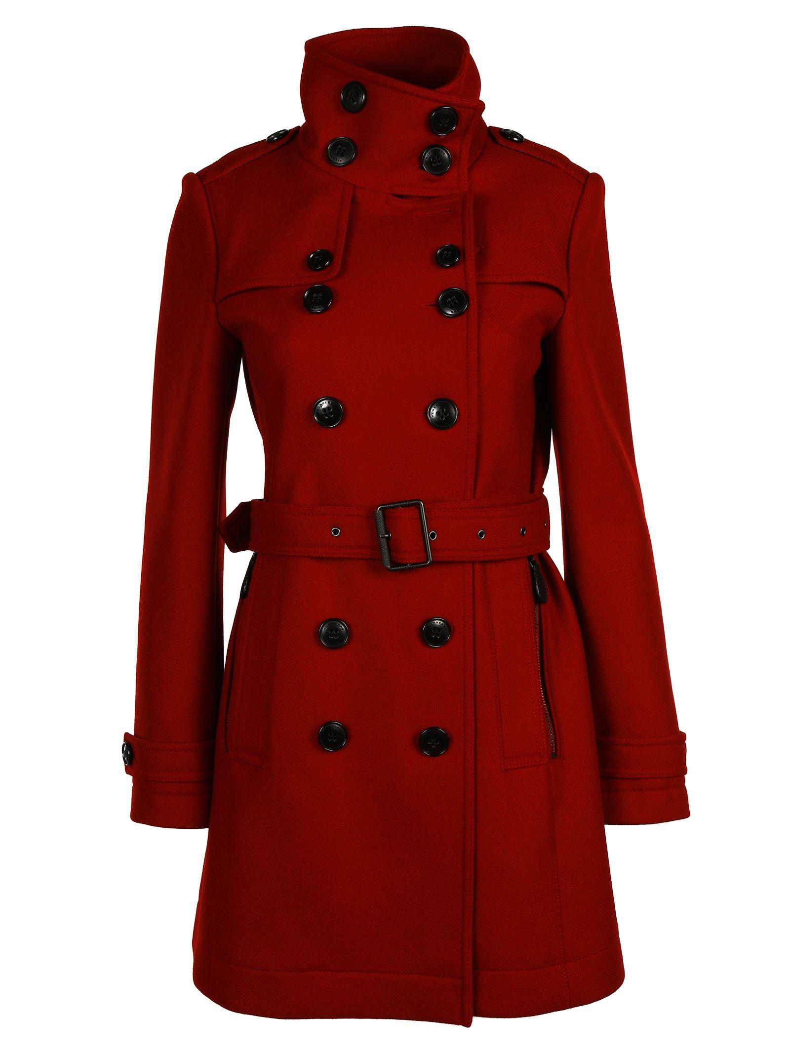 burberry brit burberry brit trench coat damson red. Black Bedroom Furniture Sets. Home Design Ideas