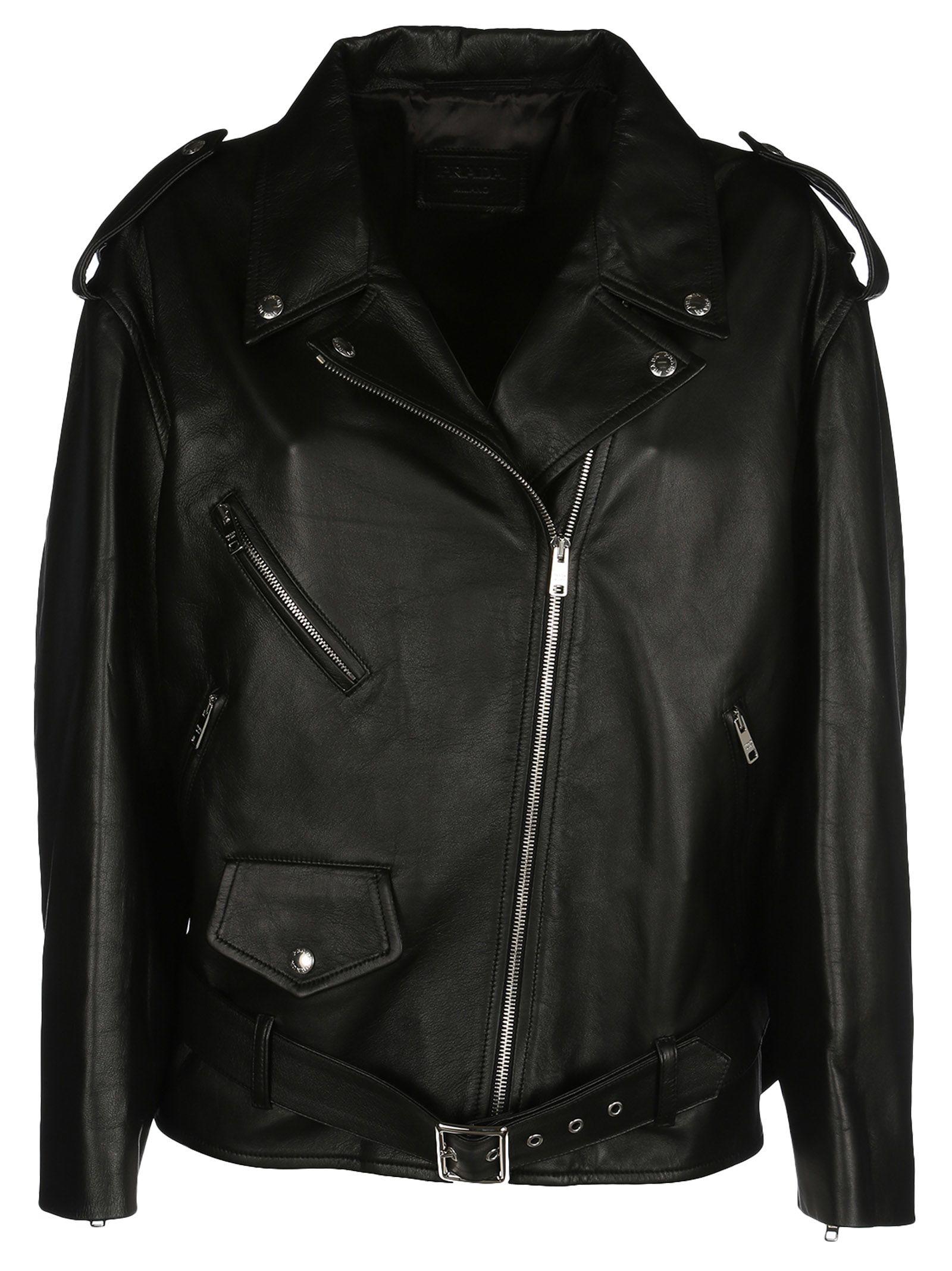 Prada Oversized Biker Jacket