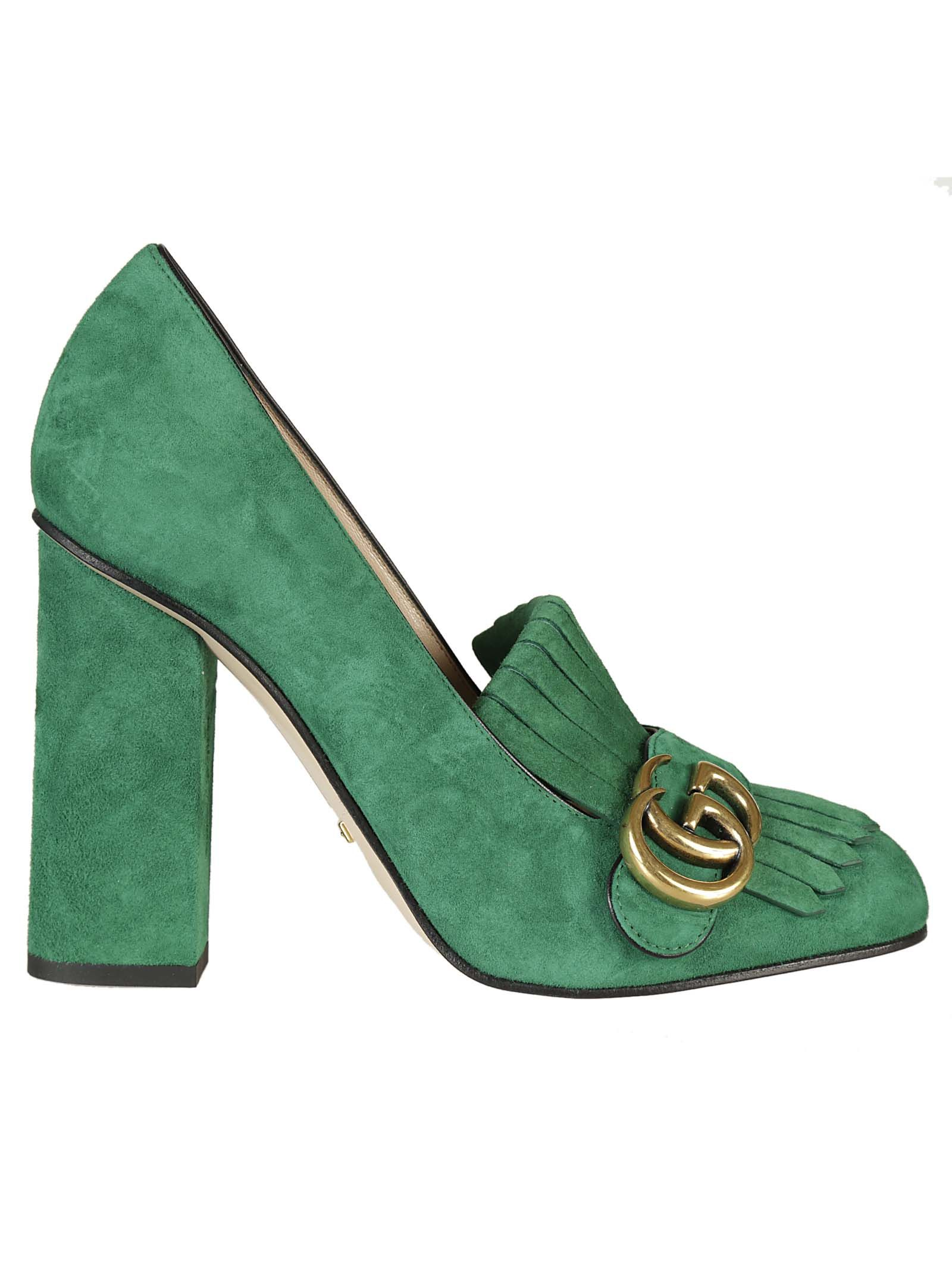 gucci gucci suede pumps green women 39 s high heeled shoes italist. Black Bedroom Furniture Sets. Home Design Ideas