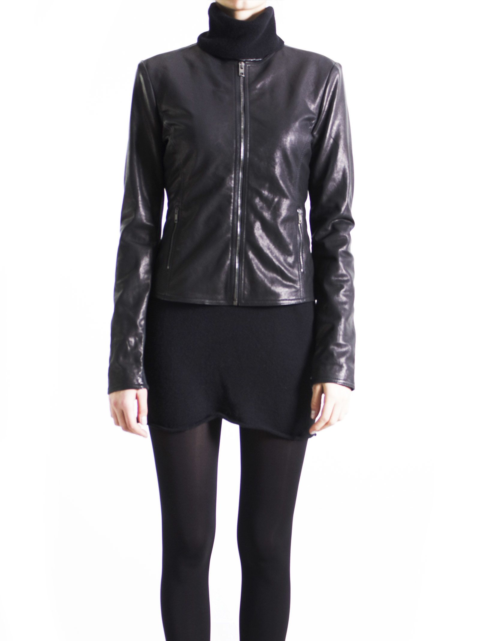 I put this black leather/knit jacket on my wish list in the wee hours this morning (10/21) and by the time I went to go back and order it (waiting to see it on your show), it was already gone.