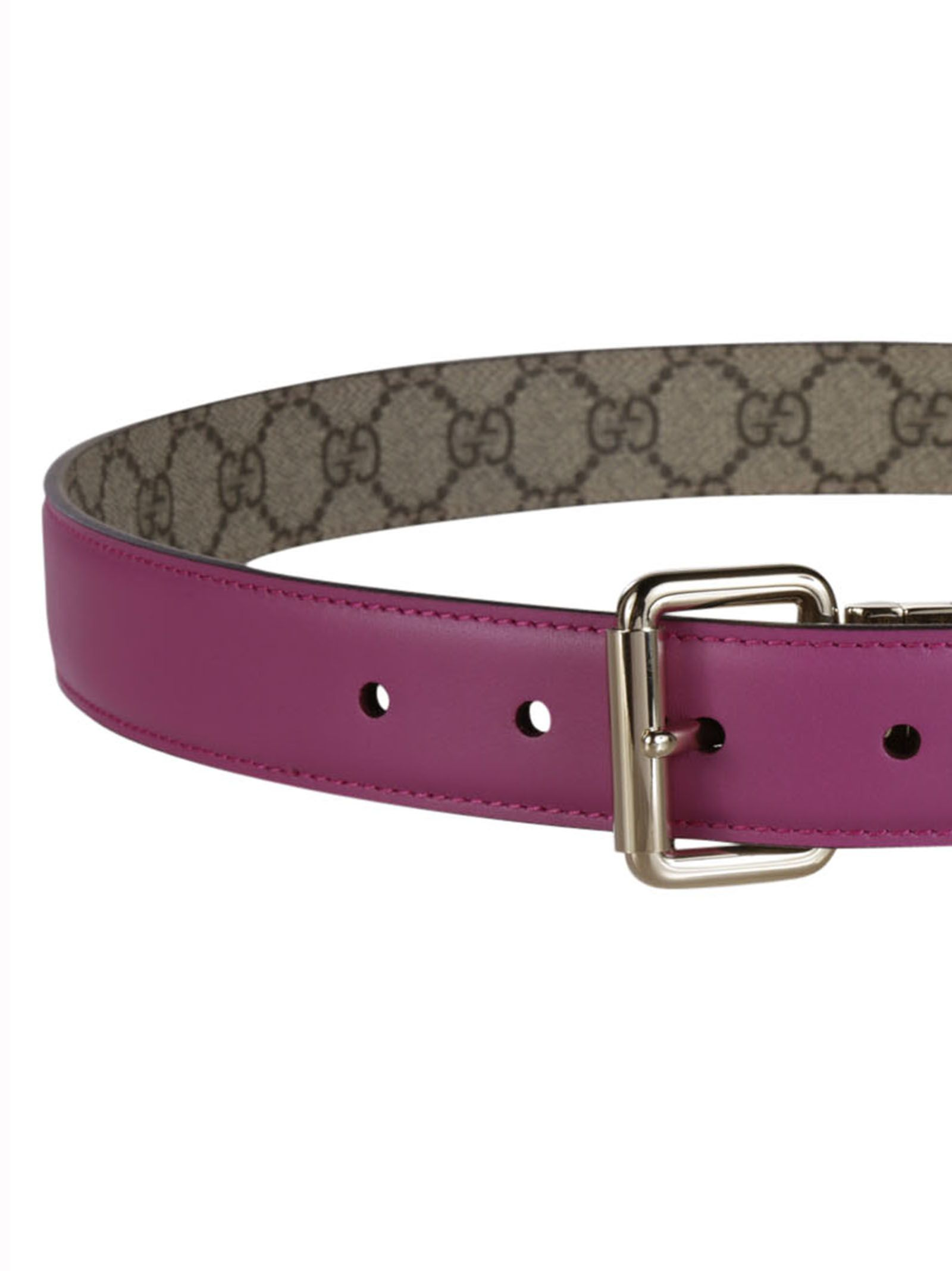 Gucci - Gucci Reversible Leather Belt - Pink, Women's ...