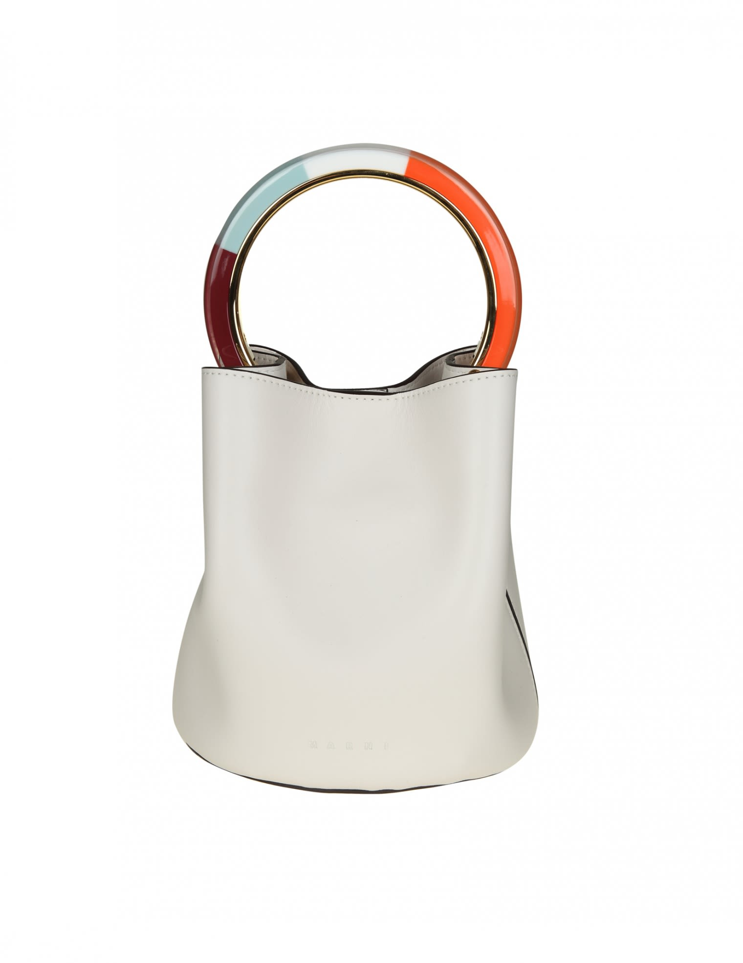Marni Secchiello treasure Pannier In Ice Leather