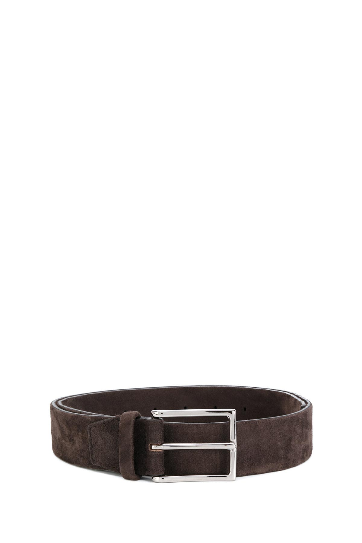 Orciani Brown Suede Belt