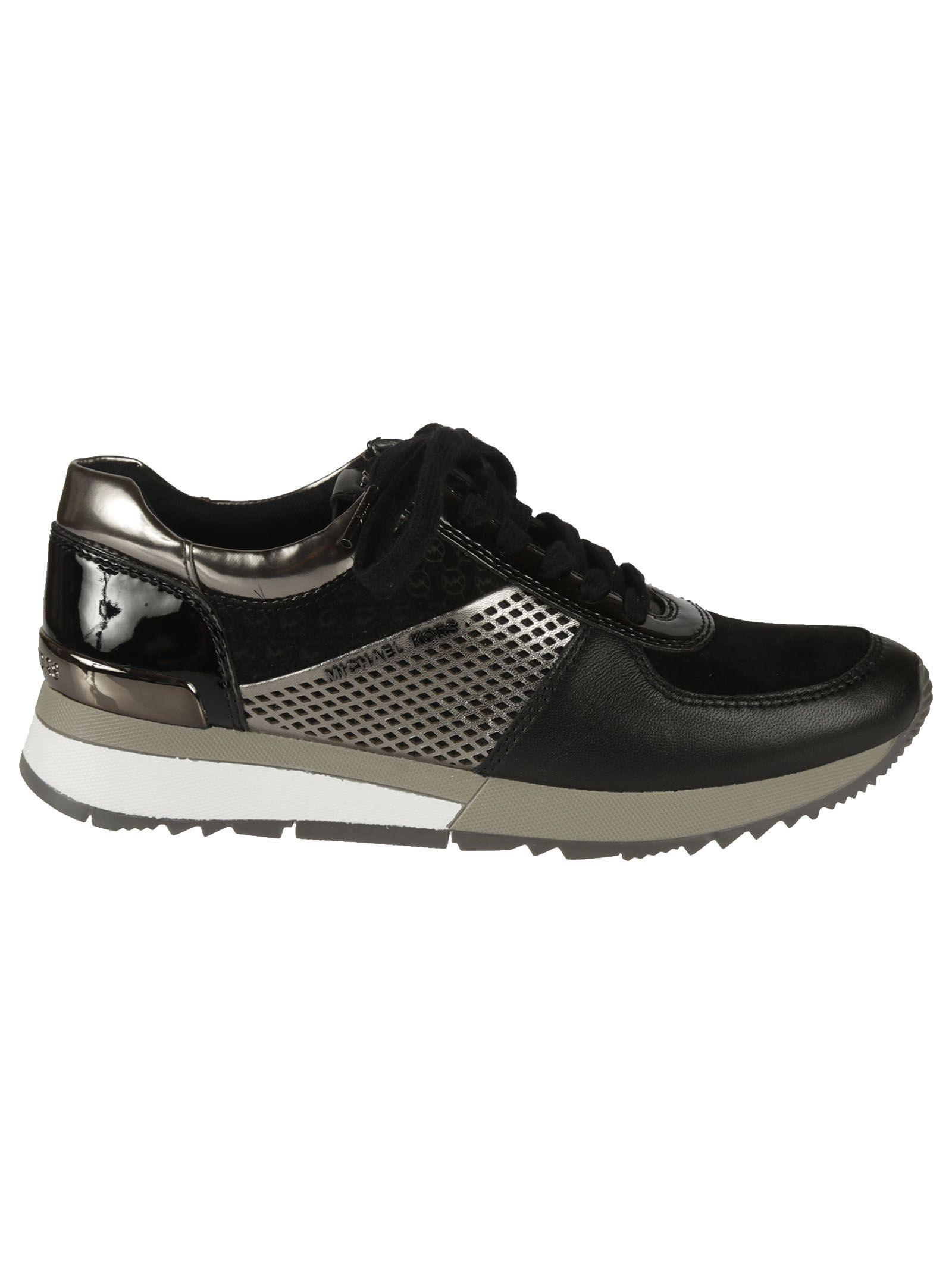 Michael Kors Allie Metallic-Trim Sneakers