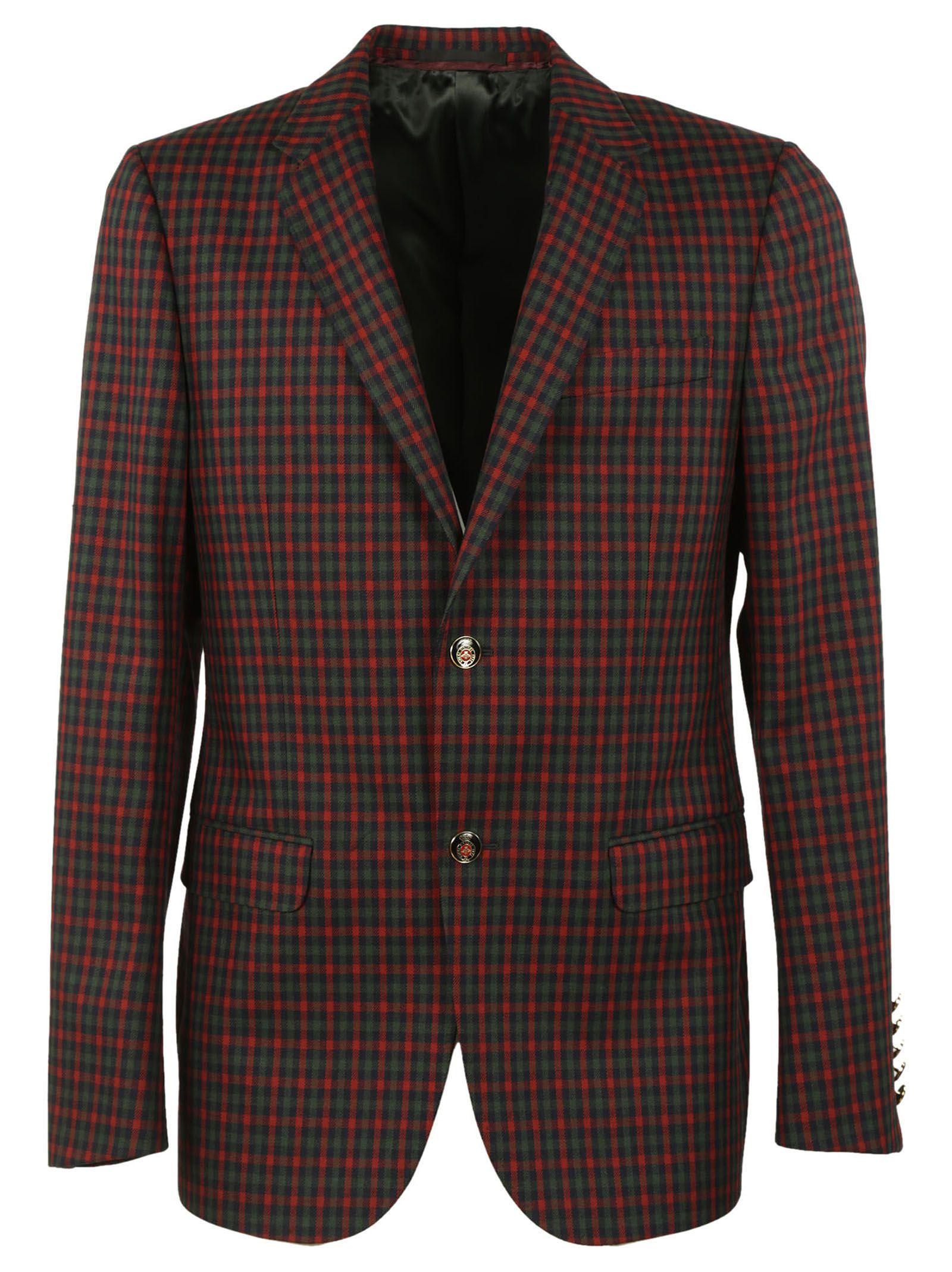 Gucci Monaco Check Blazer