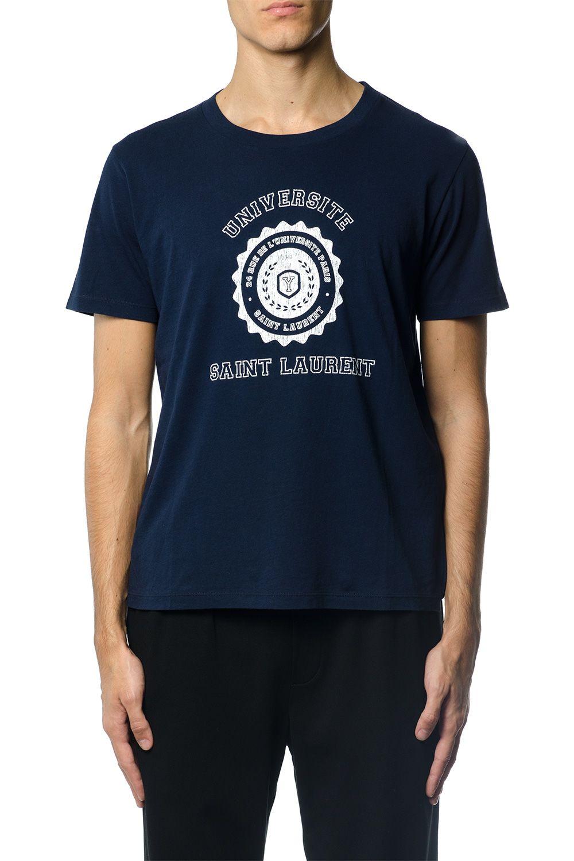 Saint Laurent Saint Laurent Université Cotton T-shirt