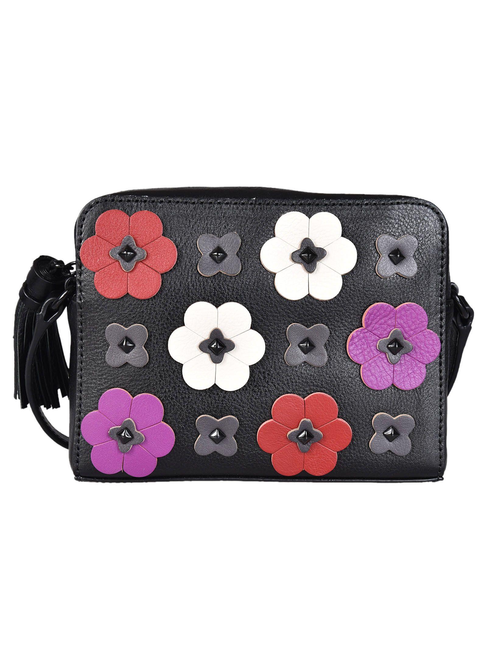 Rebecca Minkoff Floral Applique Shoulder Bag