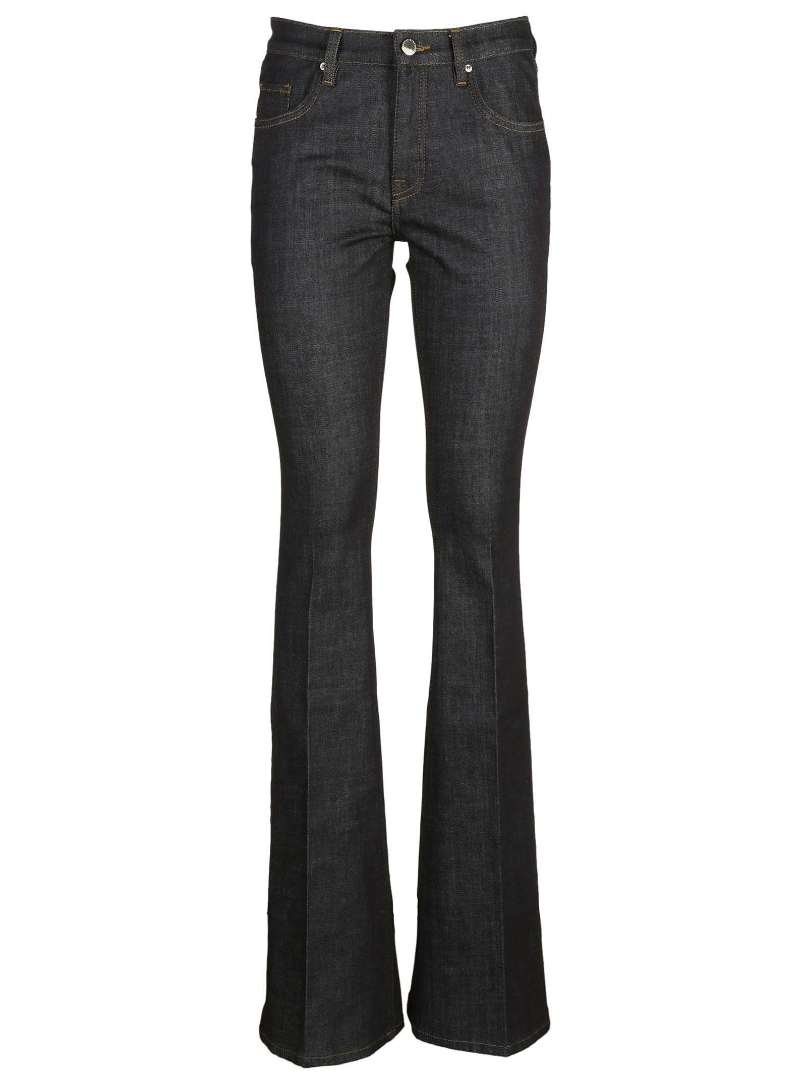victoria beckham victoria beckham flared jeans blue women 39 s jeans italist. Black Bedroom Furniture Sets. Home Design Ideas