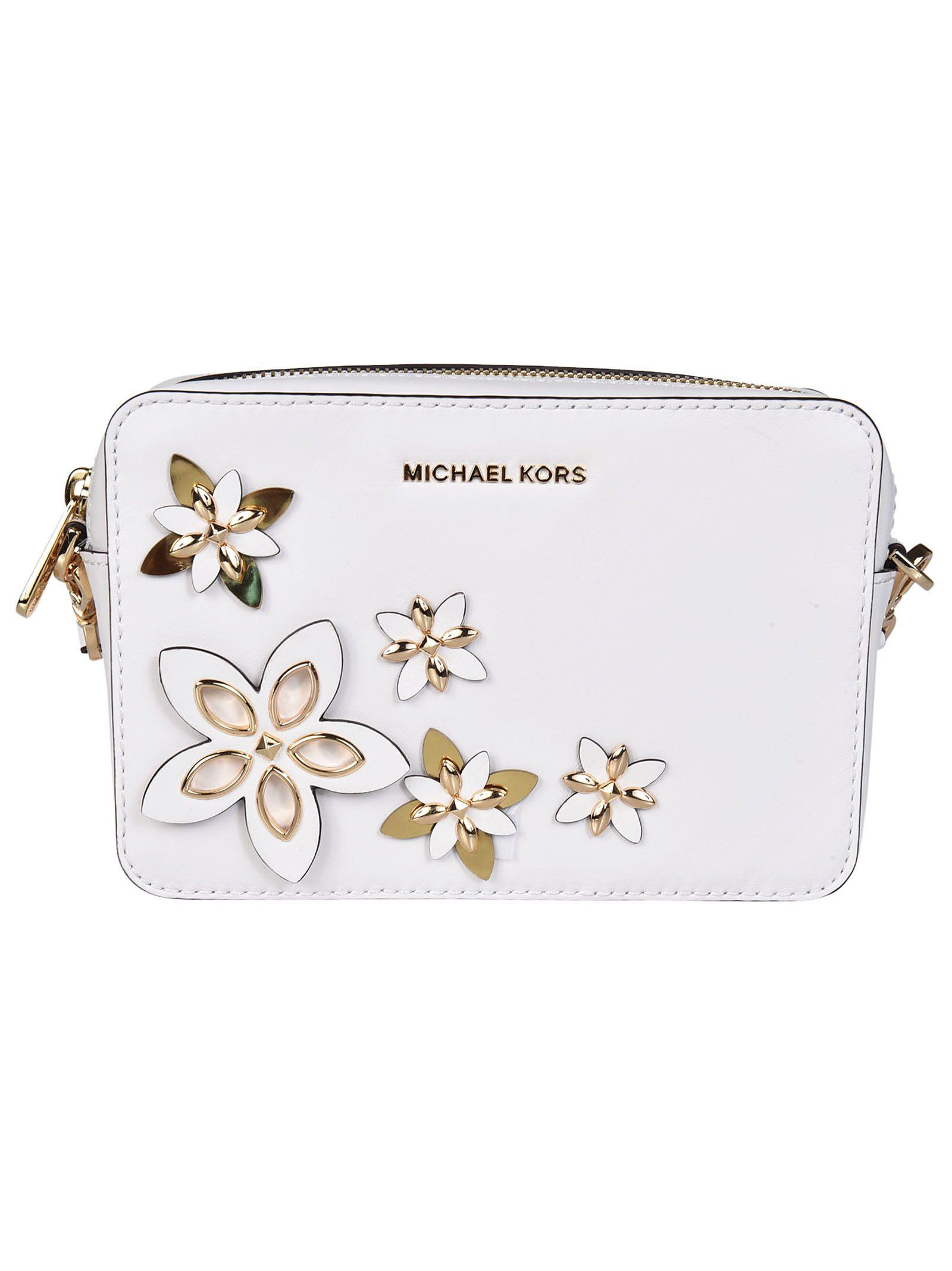 Michael Kors Floral Applique Shoulder Bag