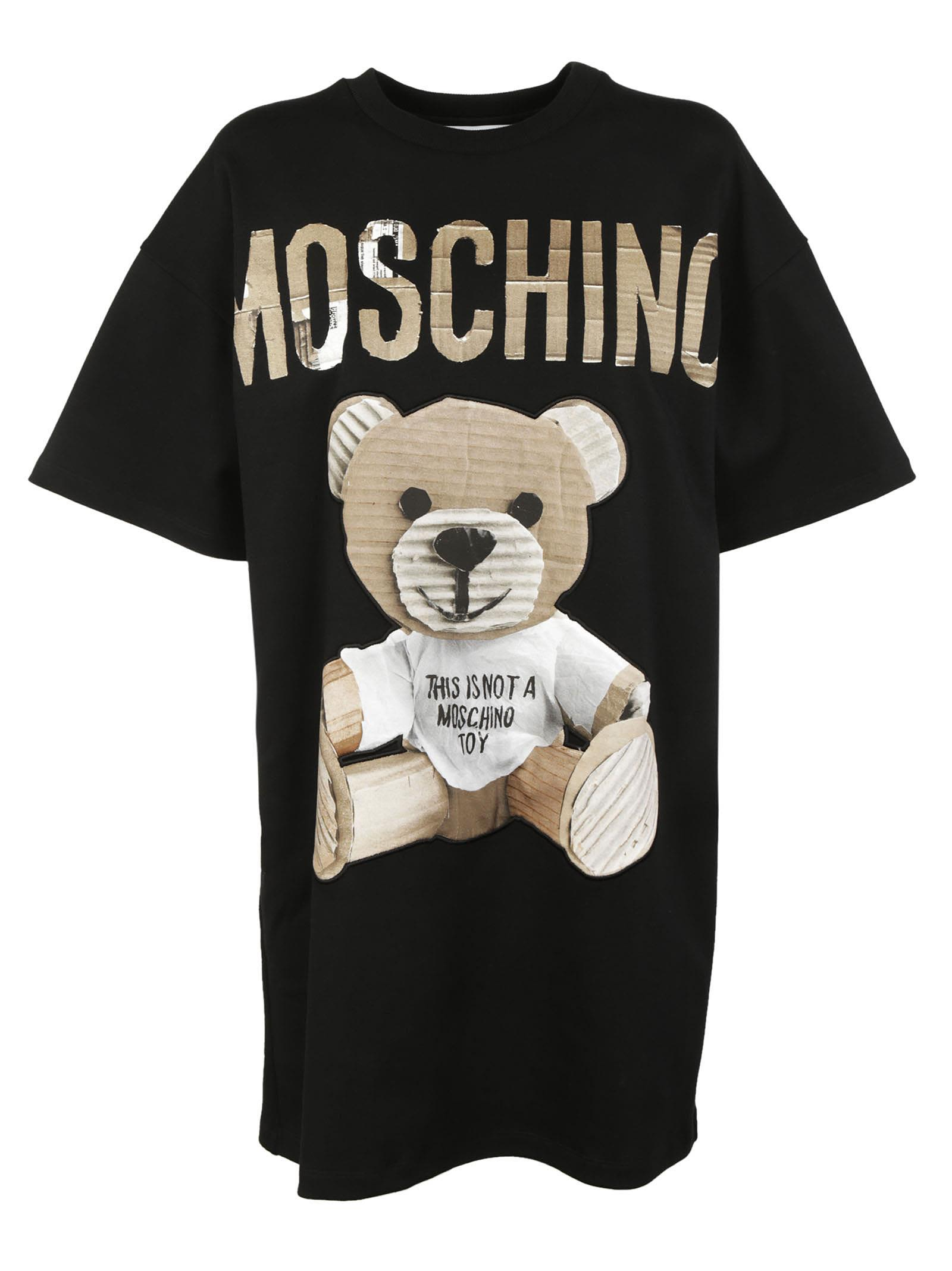 Moschino Paper Bear Print Dress 9455674