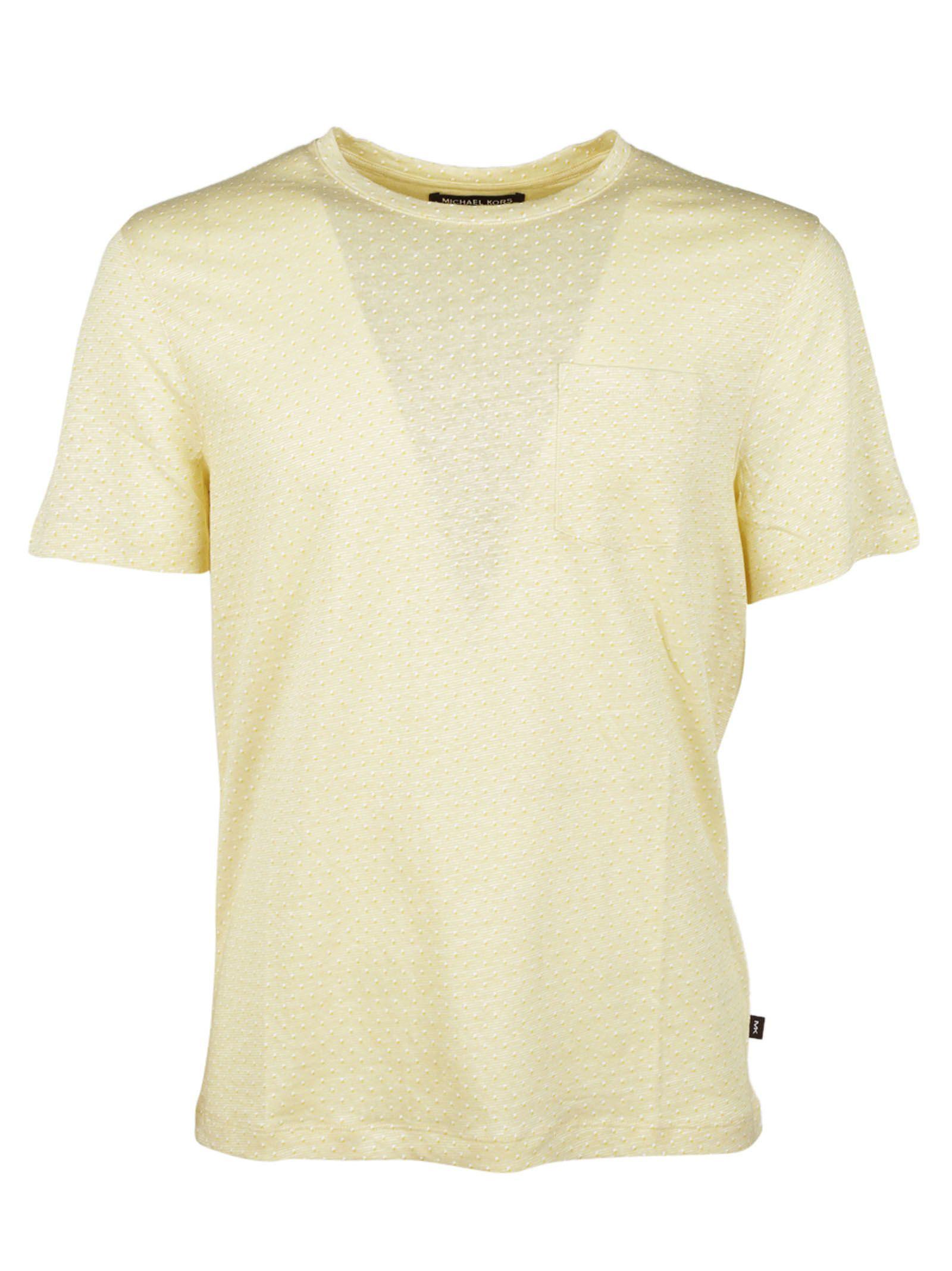 michael kors michael kors dot print t shirt yellow. Black Bedroom Furniture Sets. Home Design Ideas