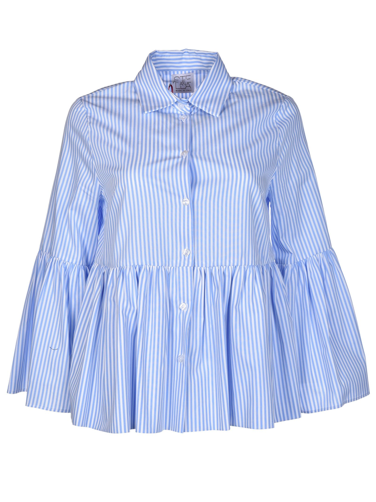 Stella Jean Imminente Striped Ruffled Shirt