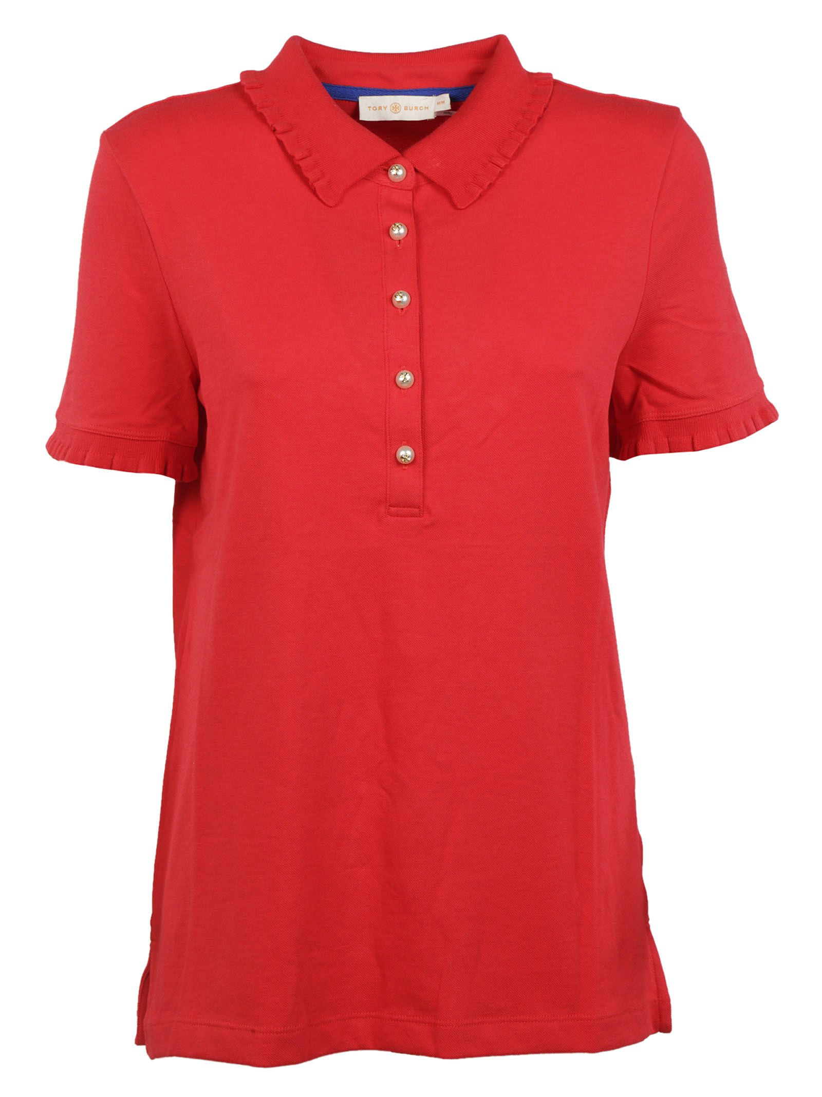 Tory Burch Ruffled Polo Shirt