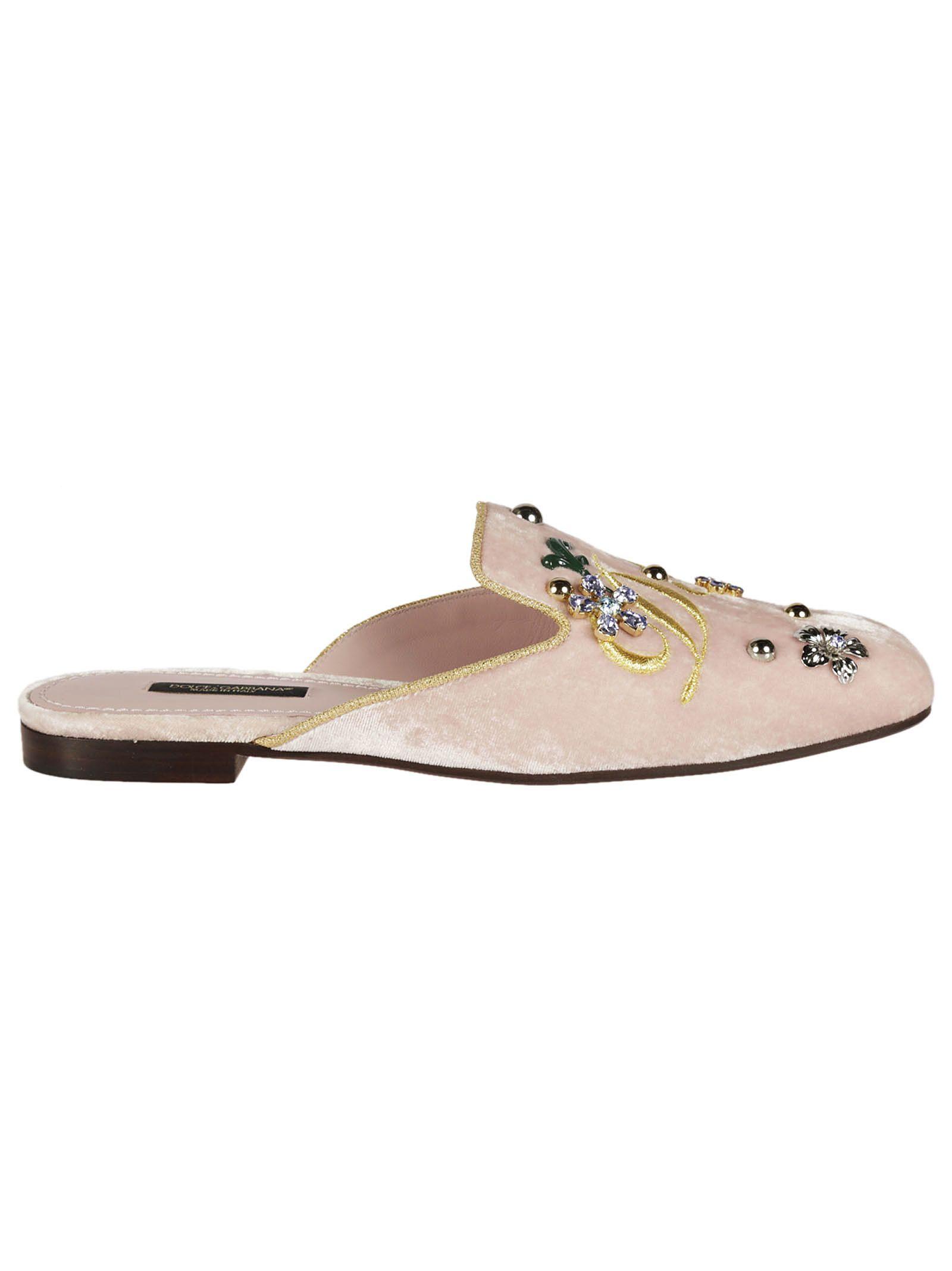 Dolce & Gabbana Jackie Velvet Mules