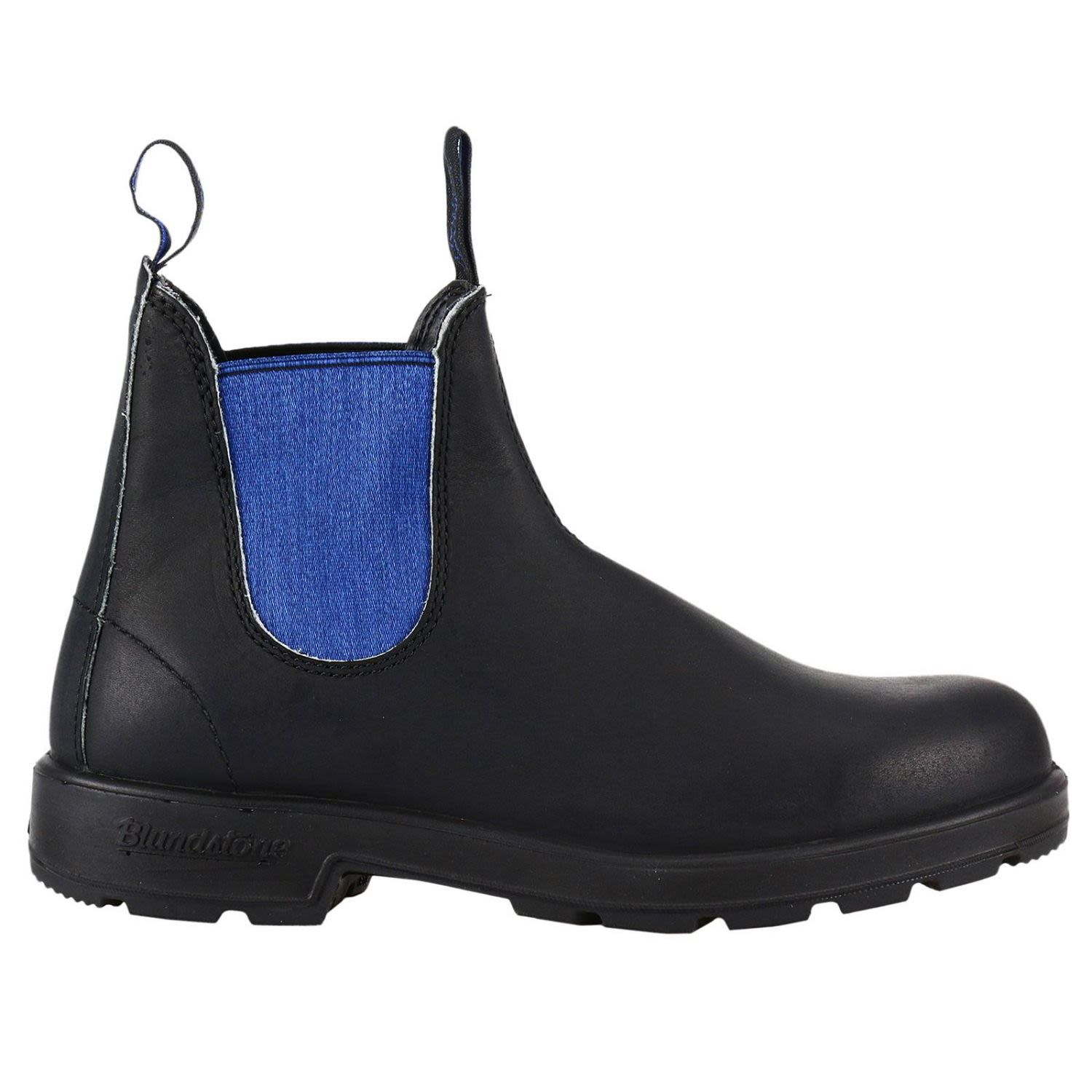 BLUNDSTONE MEN'S  BLACK LEATHER ANKLE BOOTS