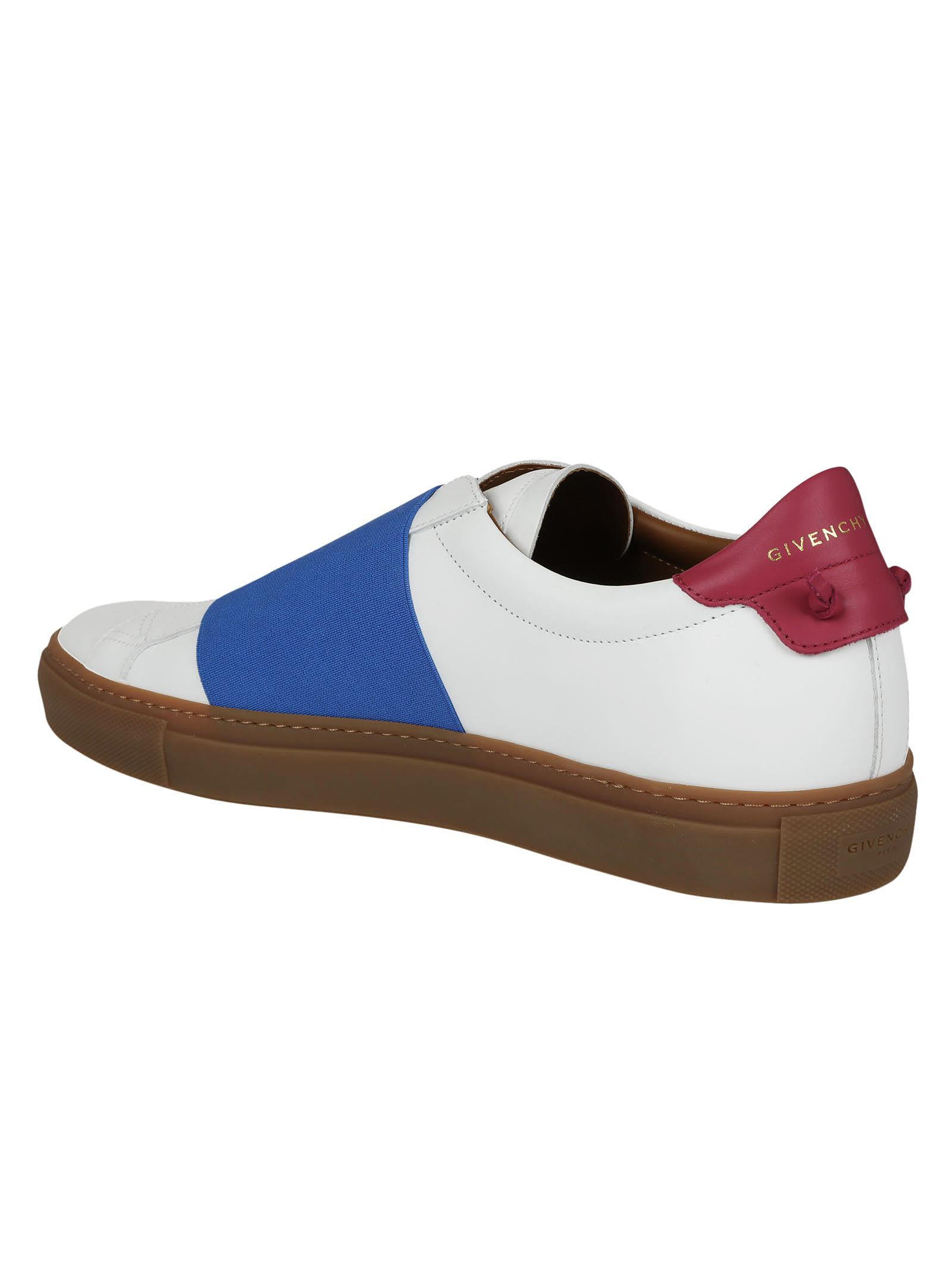 Givenchy - Givenchy Front Band Sneakers - White/Blue, Men's Sneakers | Italist