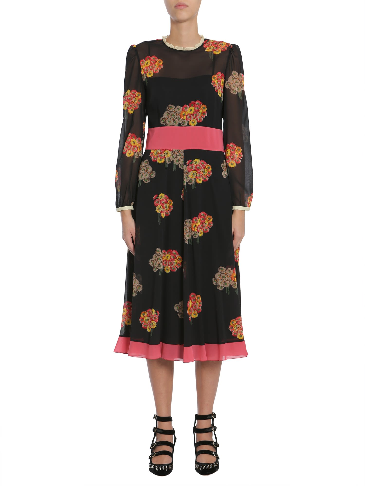 Flying Bouquet Printed Dress