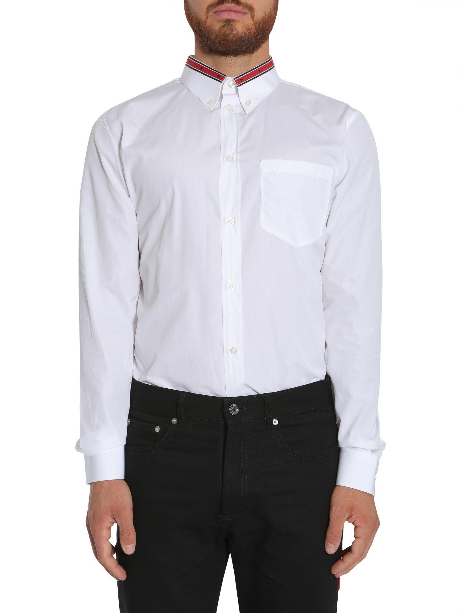 Contrasting Collar Detail Shirt