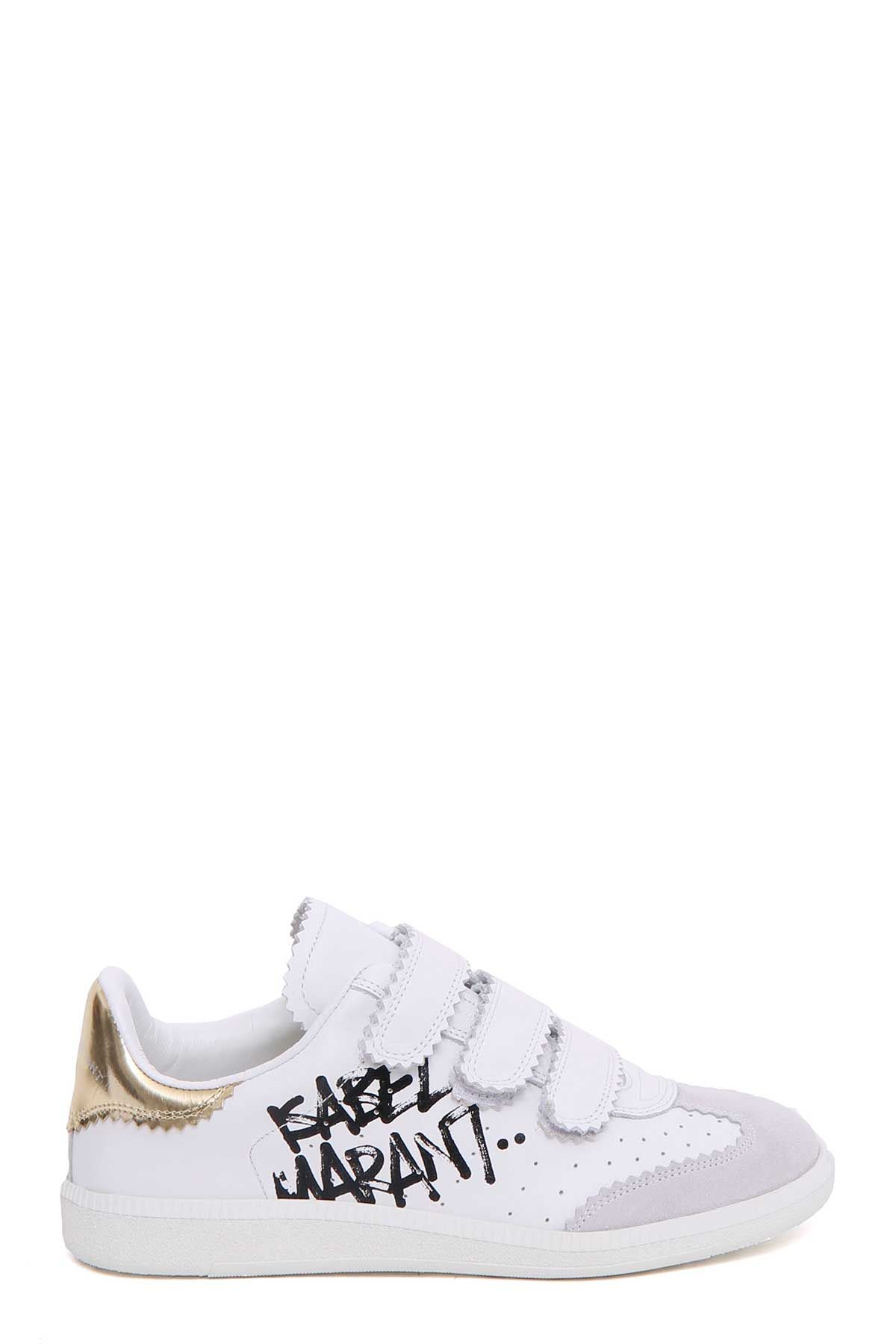 isabel marant isabel marant leather and suede 39 beth 39 sneakers white women 39 s sneakers italist. Black Bedroom Furniture Sets. Home Design Ideas